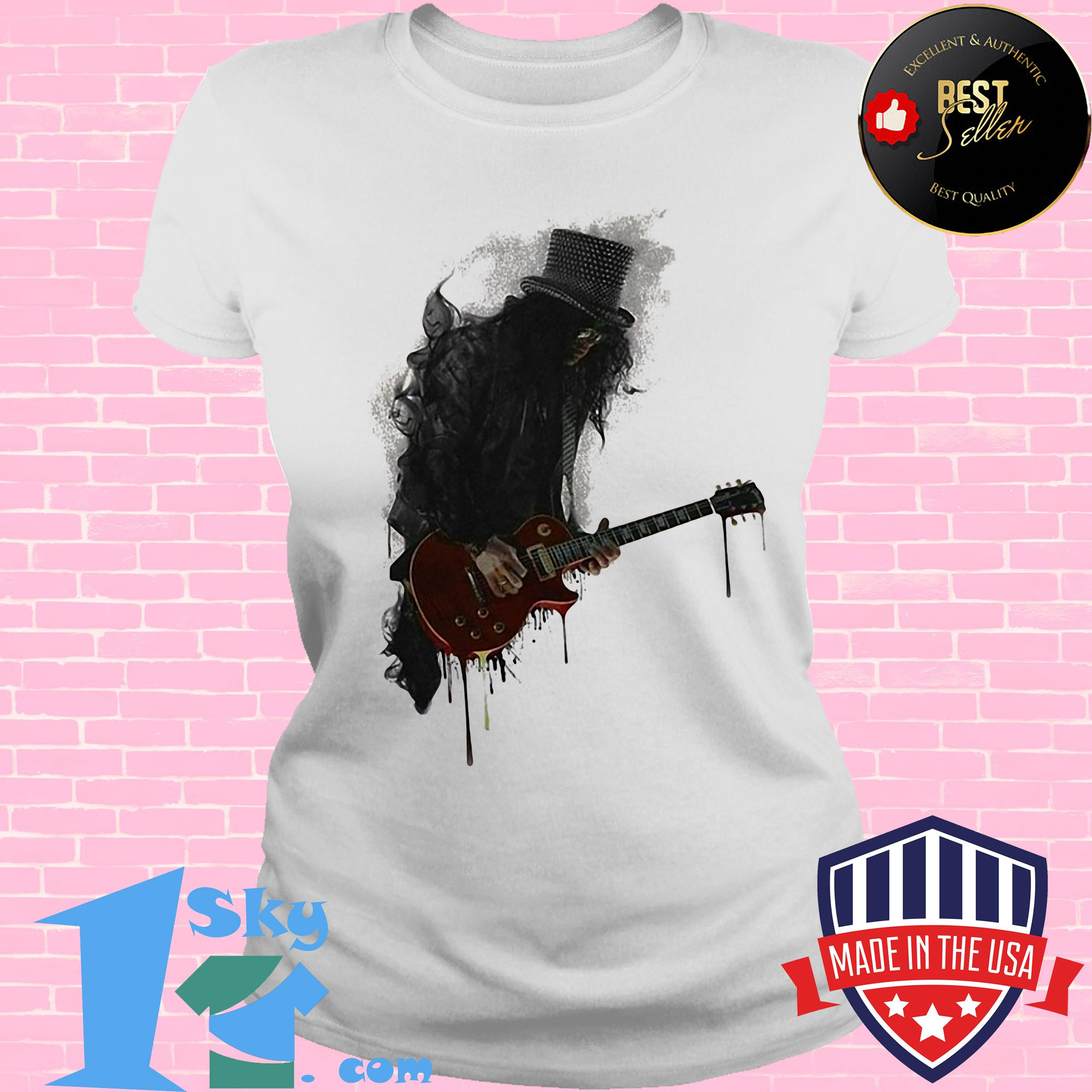 goose artist with electric guitar ladies tee - Goose Artist with Electric Guitar Shirt