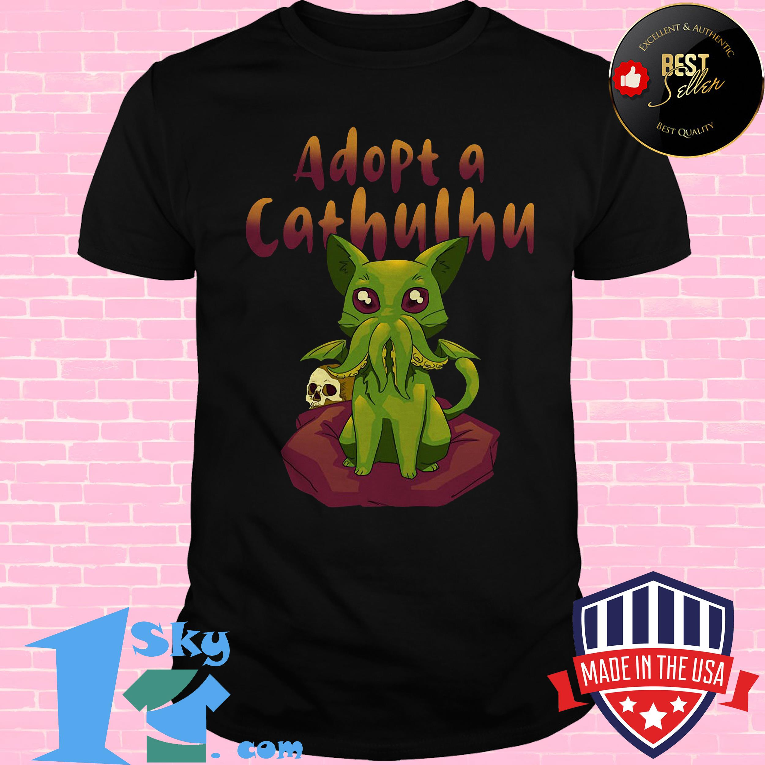 Official Goose Adopt A Cathulhu Shirt