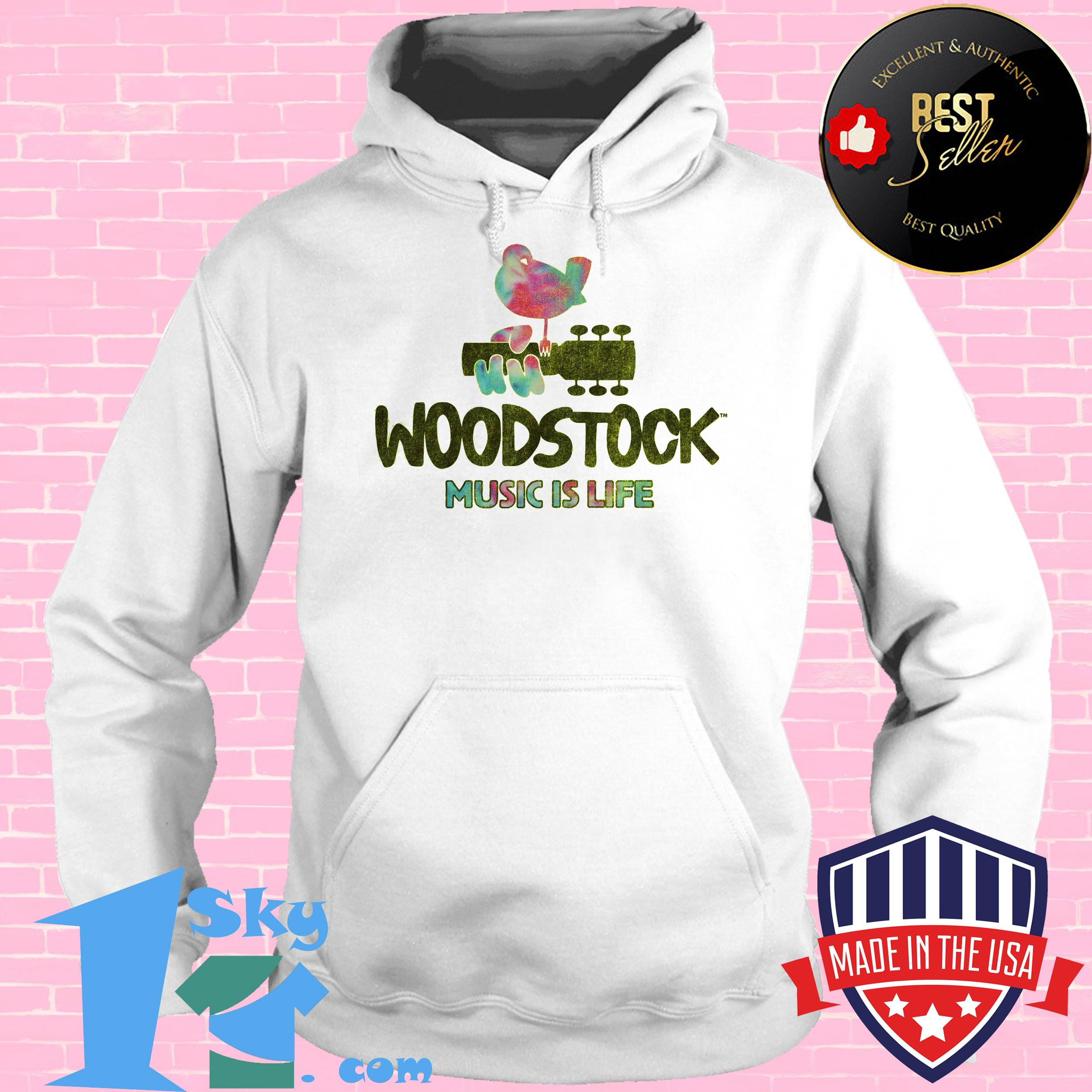 woodstock festival music is life bird hoodie - Woodstock Festival  Music is Life Bird Shirt