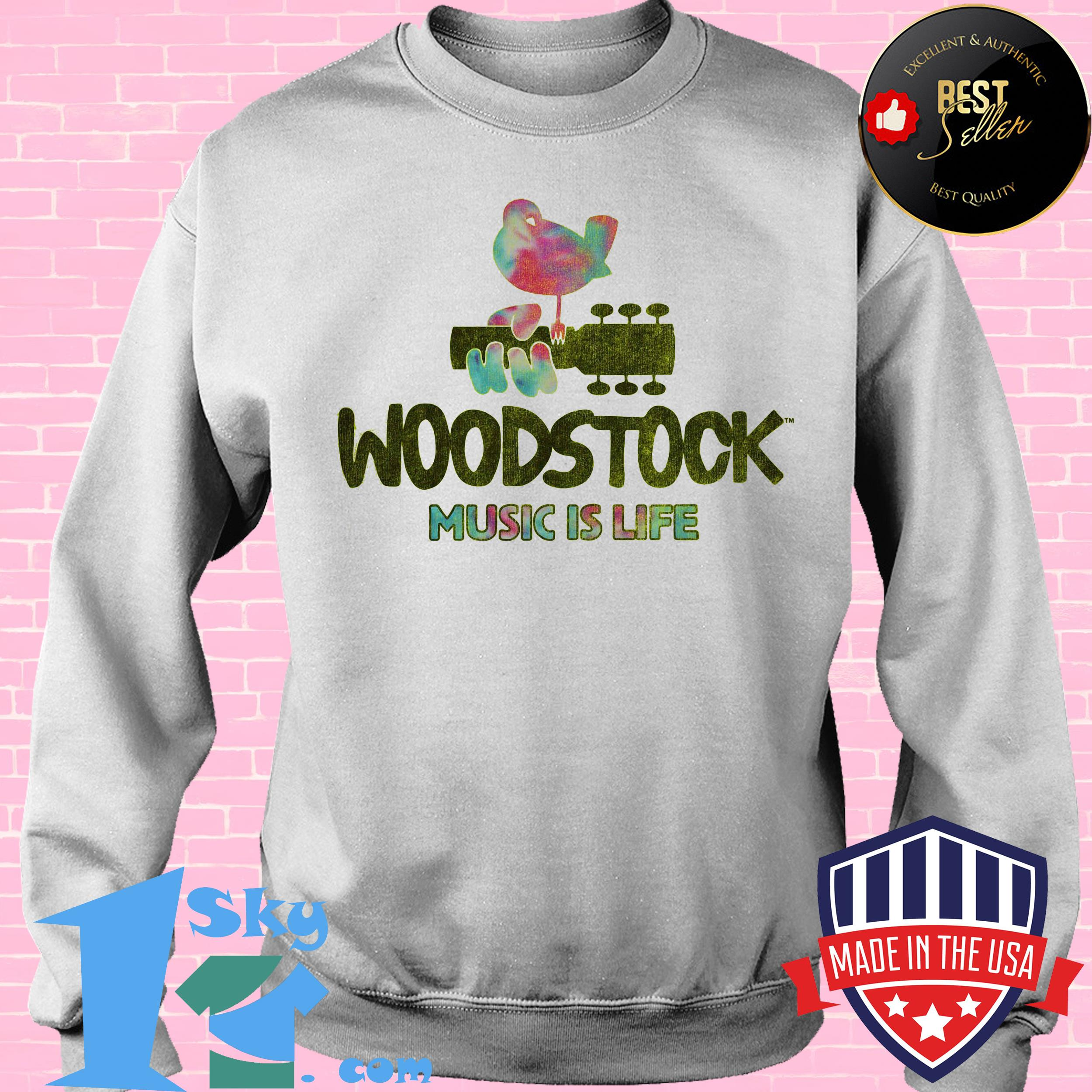 Woodstock Festival  Music is Life Bird Shirt