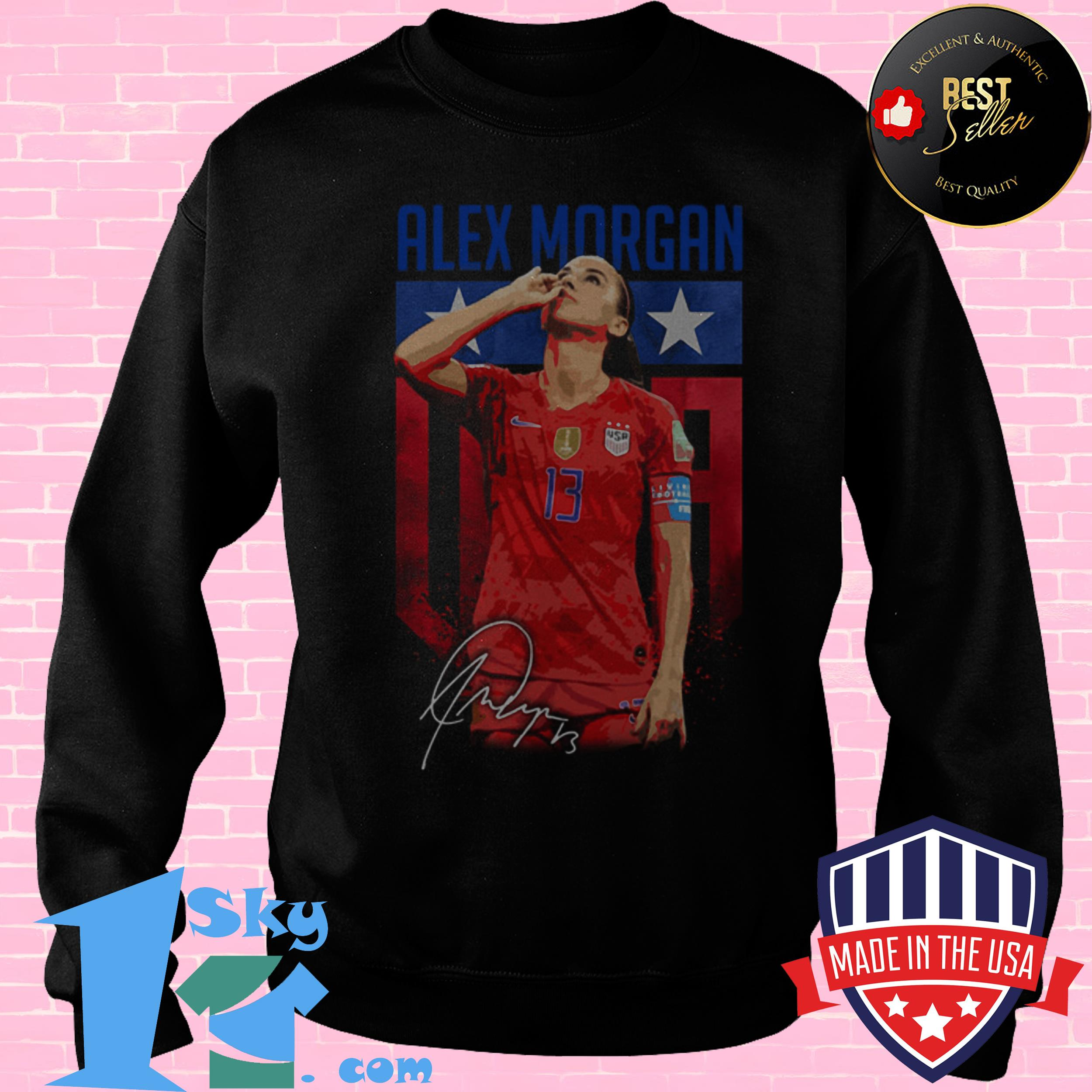 alex morgan sipping tea signature sweatshirt - Alex Morgan Sipping Tea Signature shirt