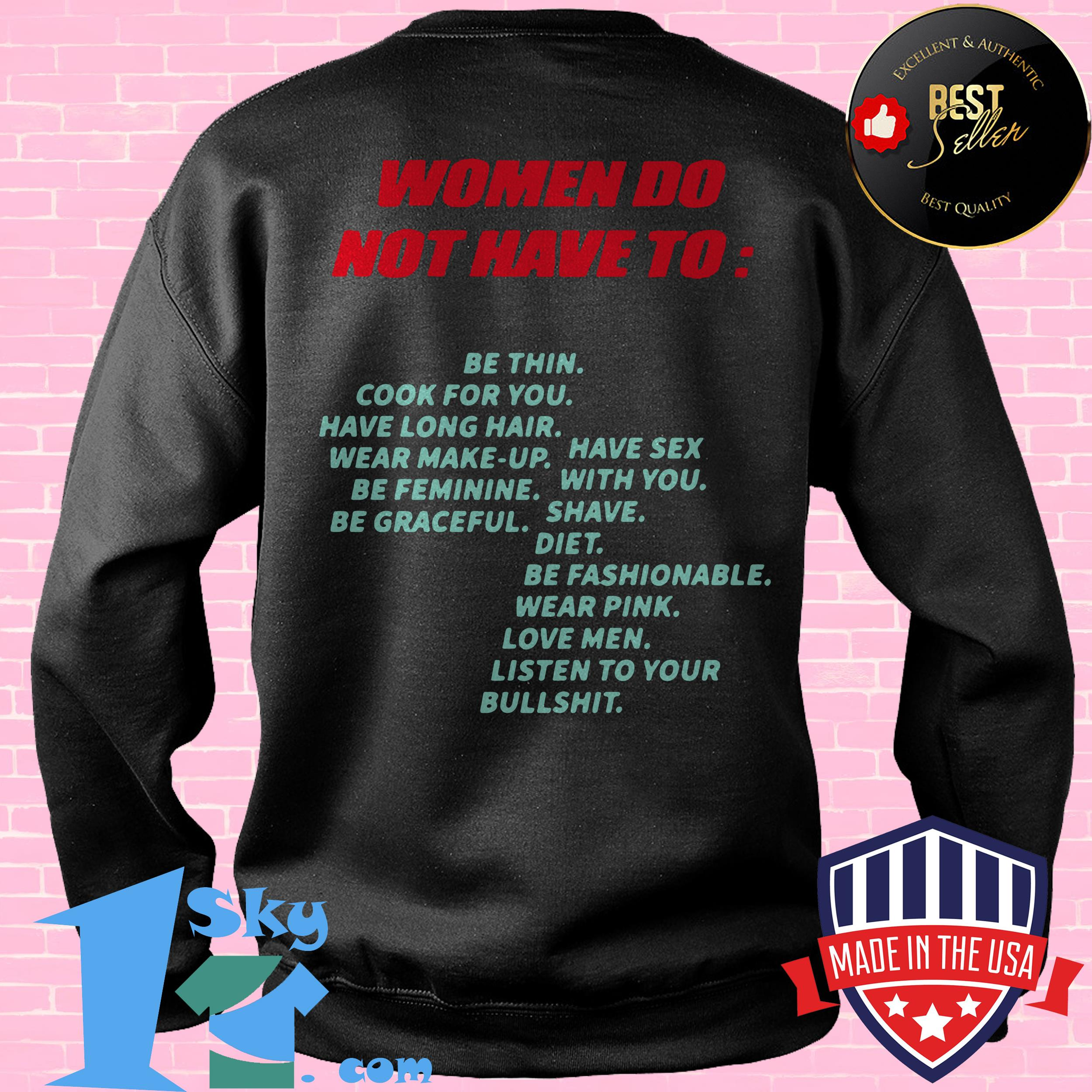 awesome women do not have to be thin cook for you have long hair sweatshirt - Awesome Women Do Not Have to Be Thin Cook for You Have Long Hair shirt