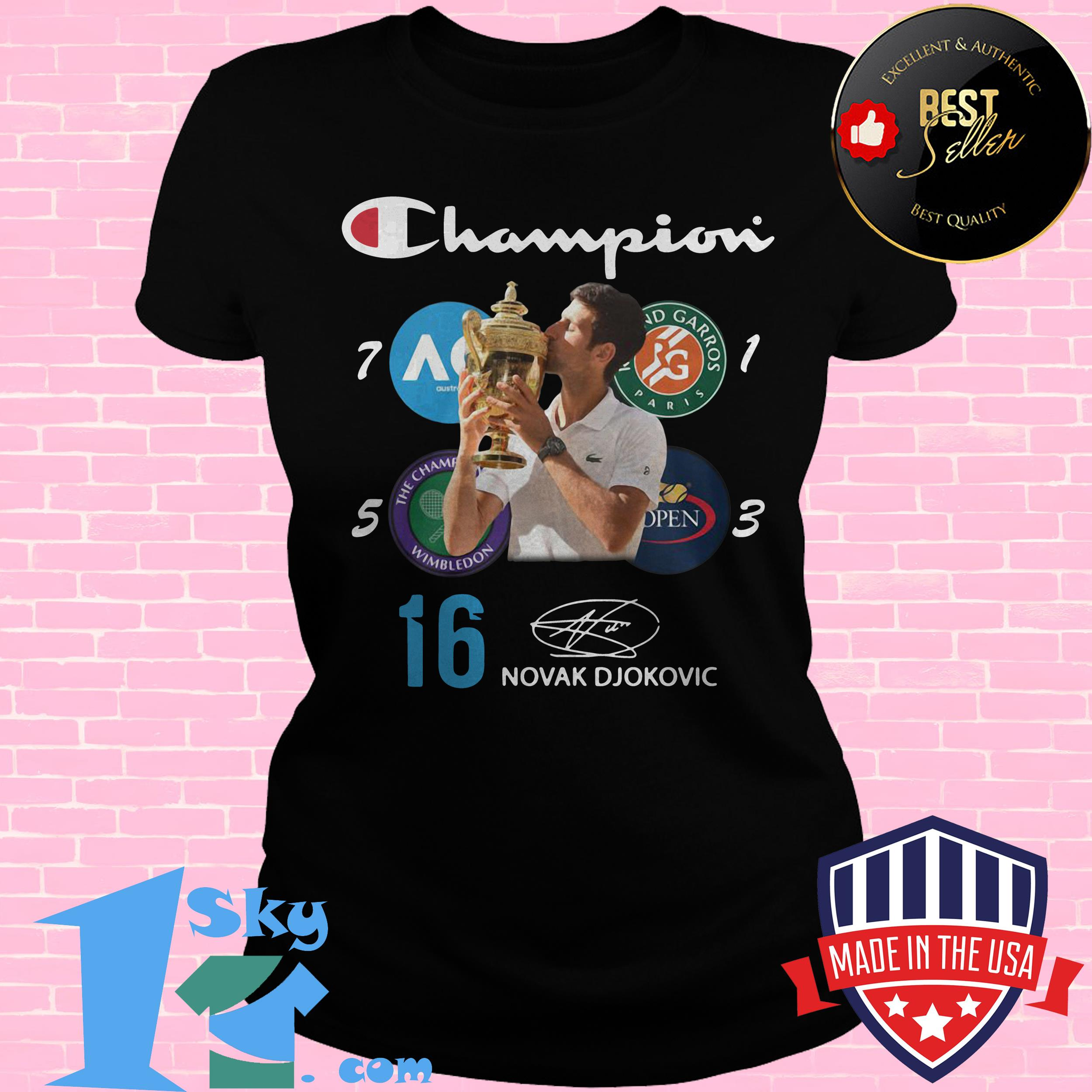 Official Novak Djokovic Living Legend Champion Wimbledon 2019 Shirt