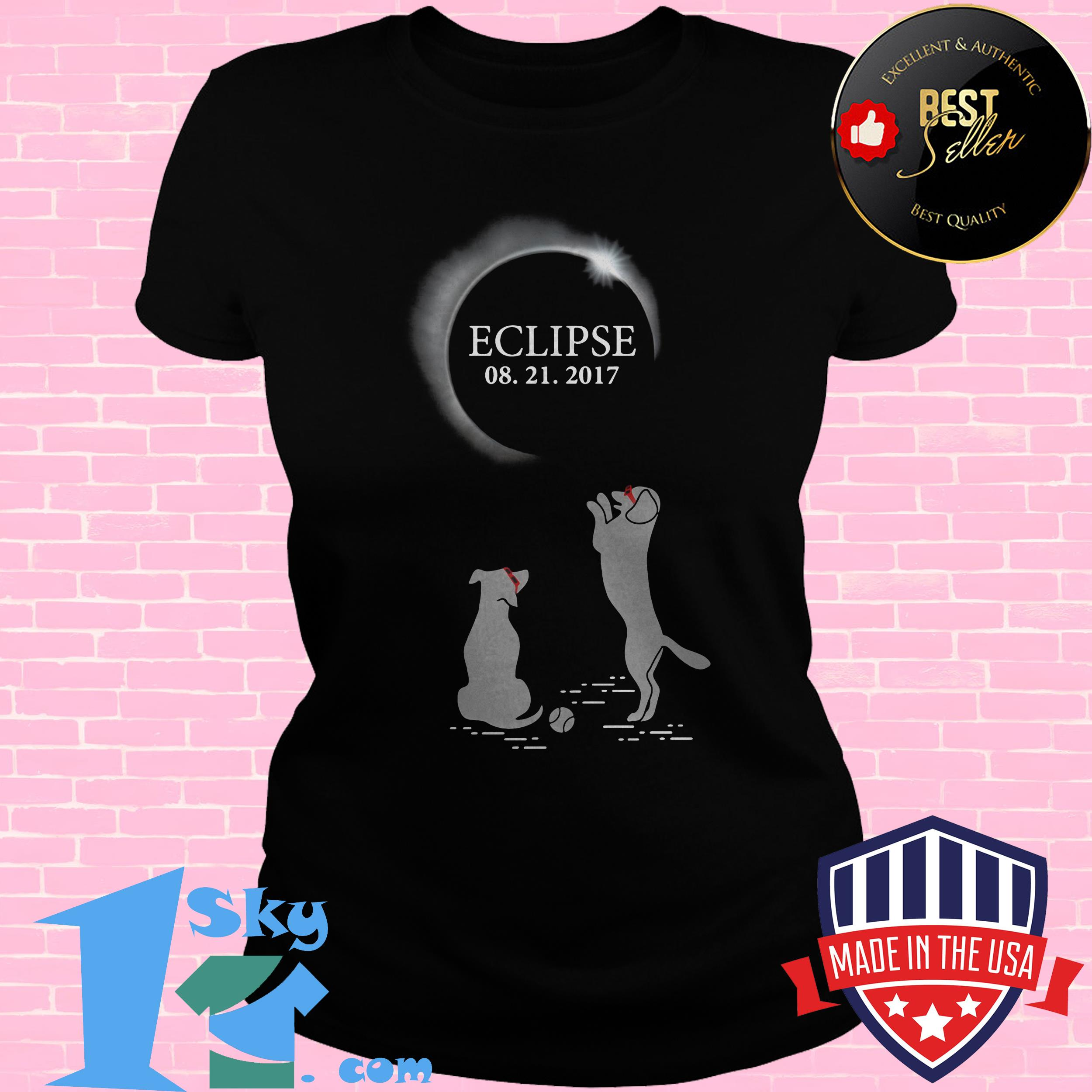 solar eclipse august 21 2017 dogs ladie tee - Solar Eclipse August 21 2017 Dogs shirt