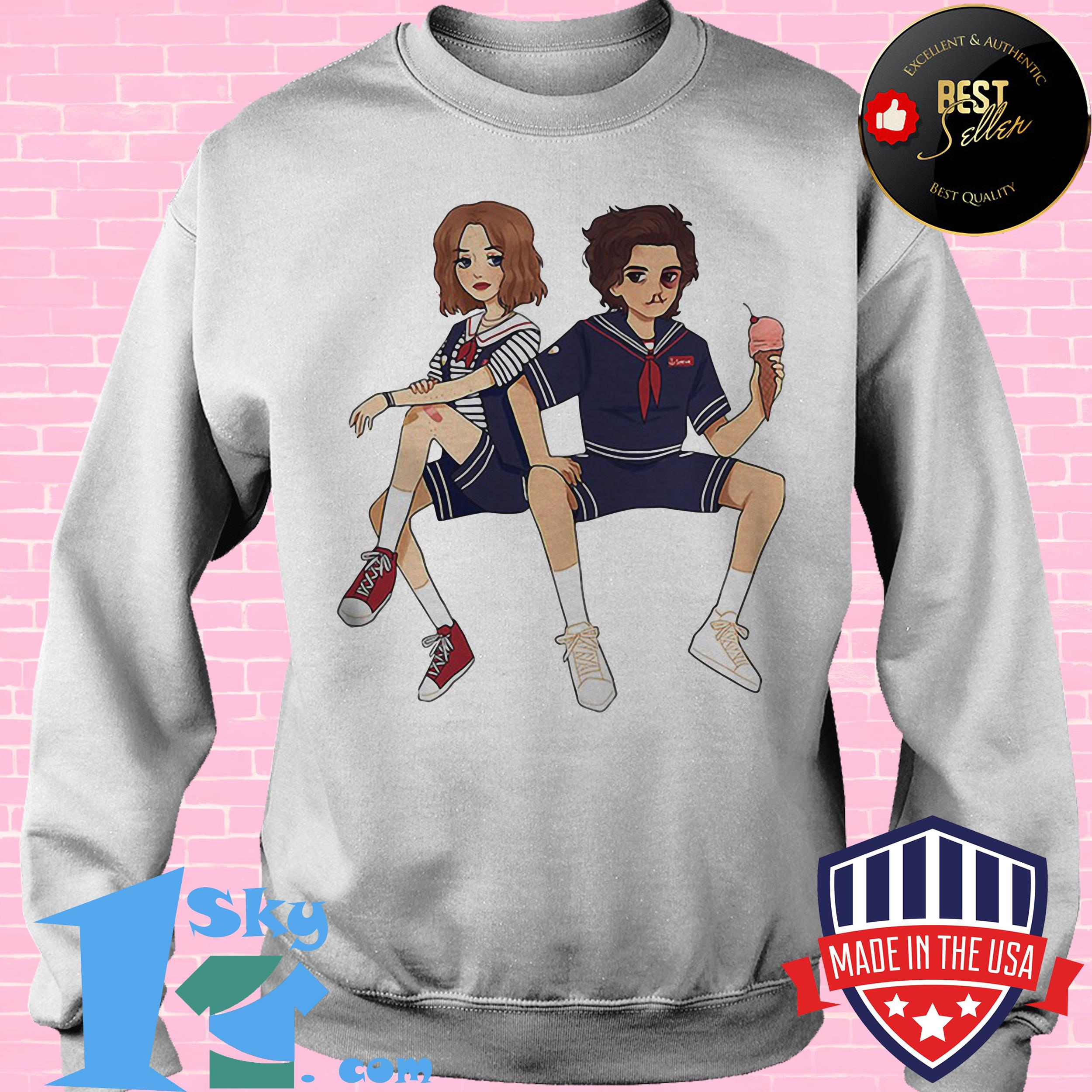 stranger things scoops ahoy ice cream parlor sweatshirt - Stranger Things Scoops Ahoy Ice Cream Parlor shirt