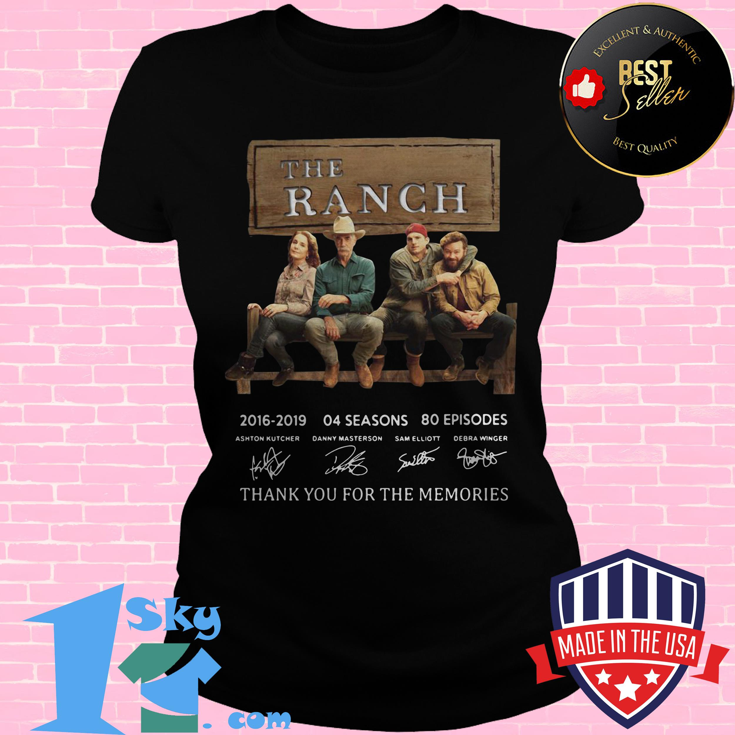 the ranch signature thank you for the memories ladies tee - The Ranch Signature Thank You For The Memories shirt