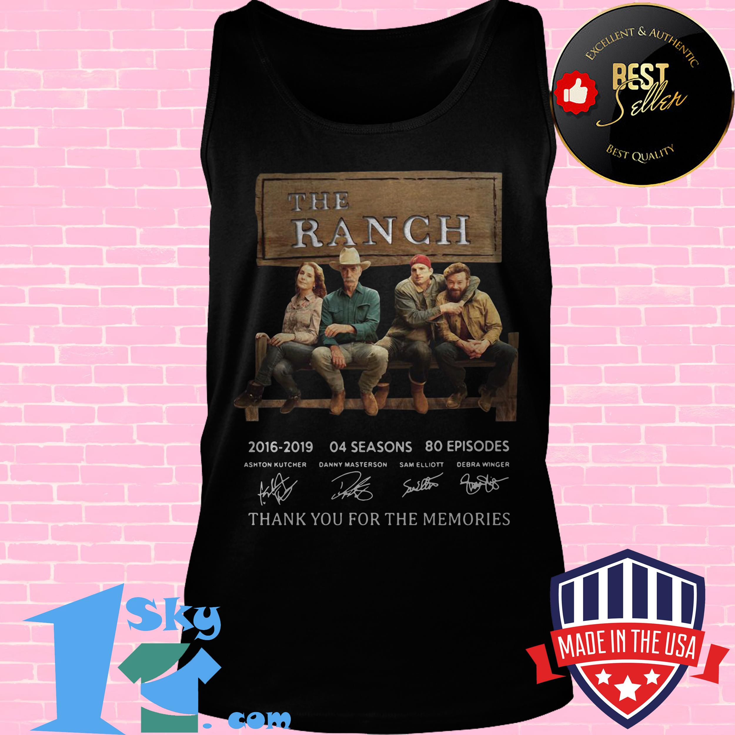 the ranch signature thank you for the memories tank top - The Ranch Signature Thank You For The Memories shirt