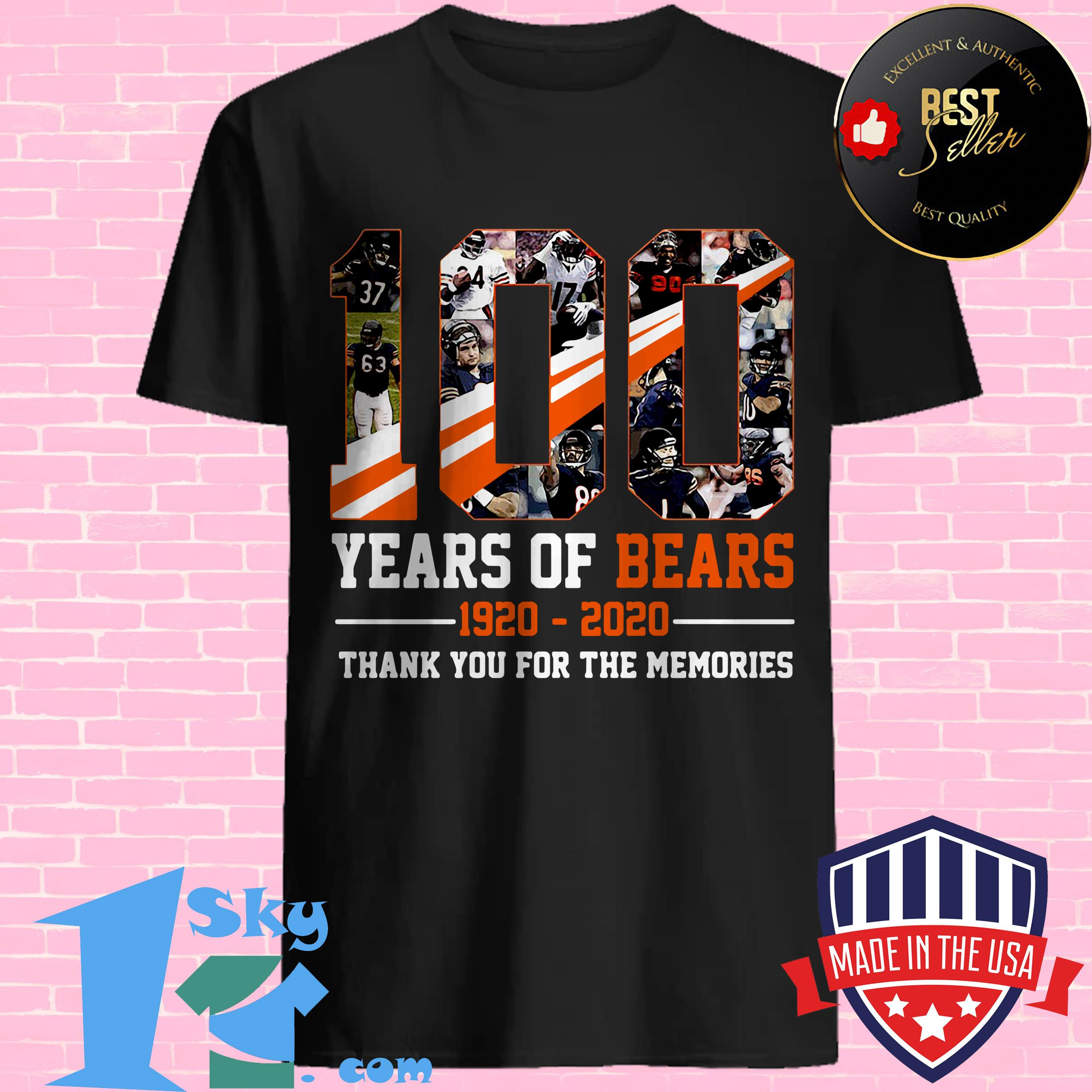 100 Years Of Bears Chicago 1920-2020 Football Jersey Portrait Customized shirt