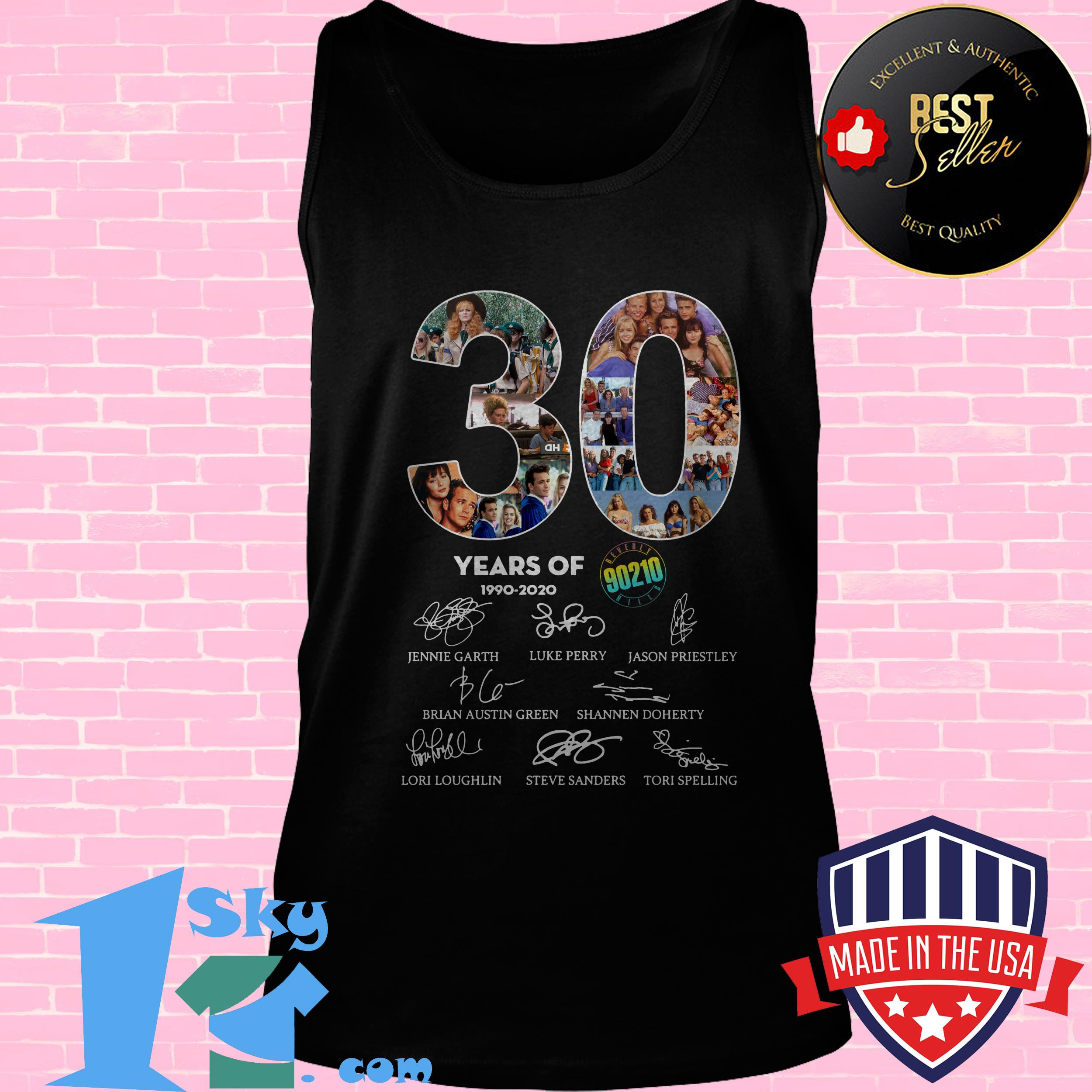 30 years of beverly hills 90210 1990 2020 signature tank top - 30 Years of Beverly Hills 90210 1990 2020 Signature shirt