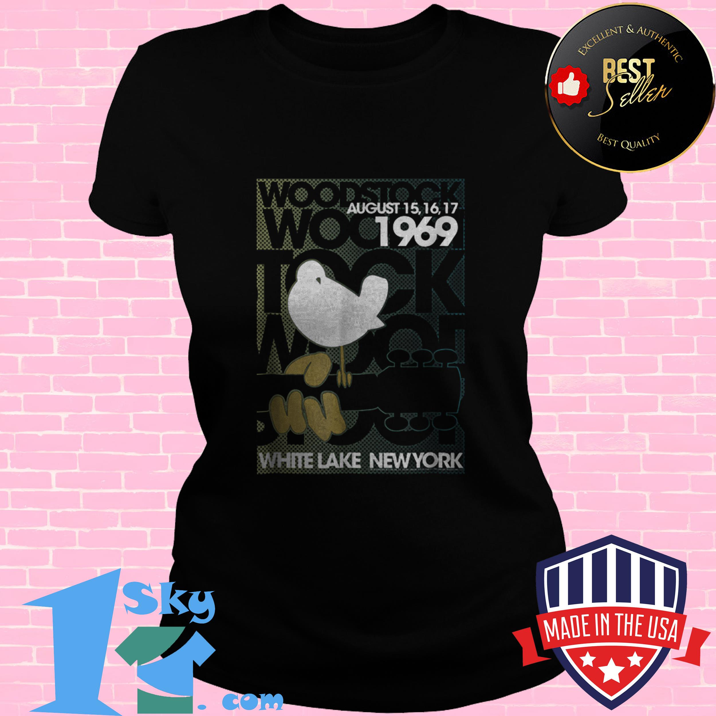 awesome woodstock august 1969 white lake new york ladies tee - Awesome Woodstock August 1969 White Lake New York shirt