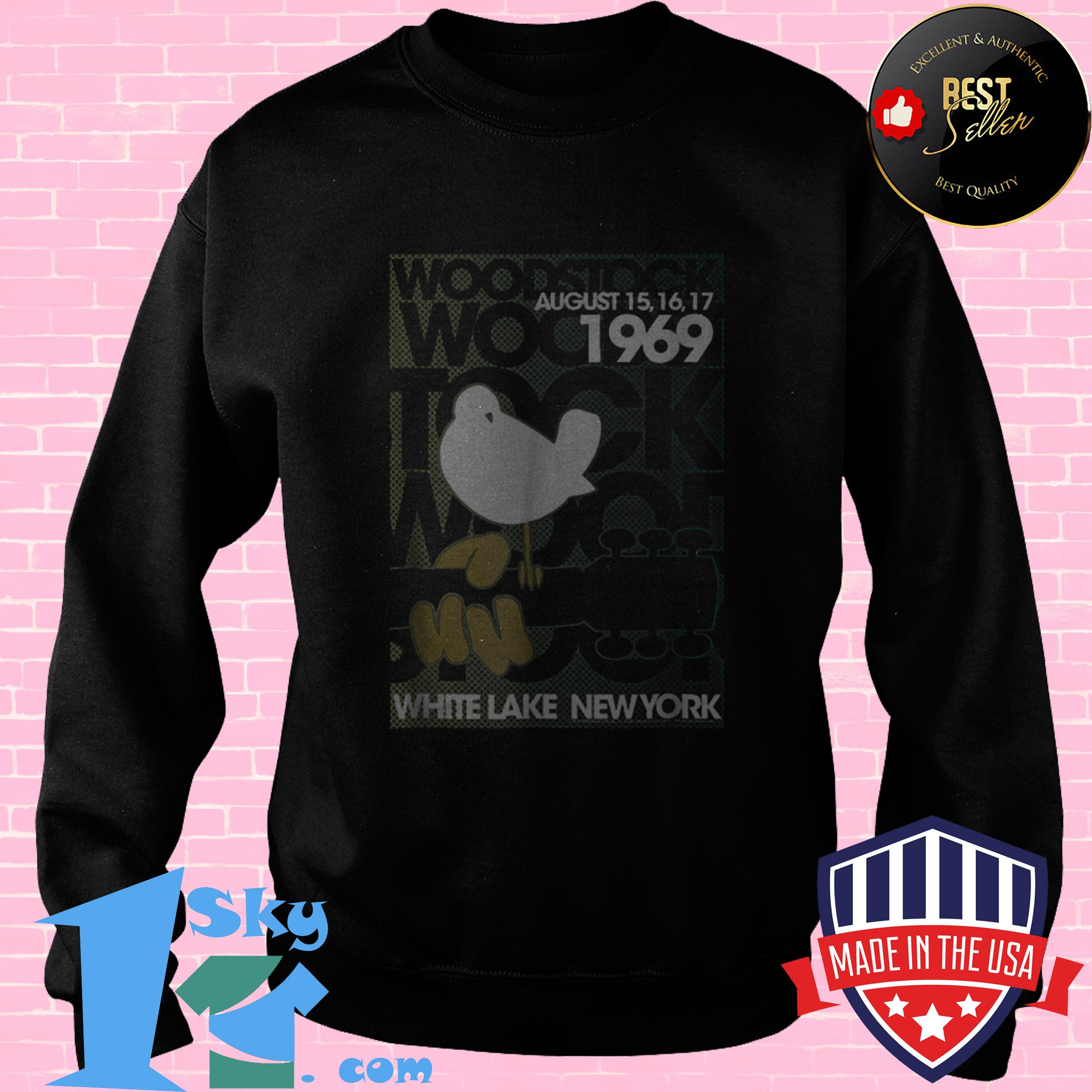 awesome woodstock august 1969 white lake new york sweatshirt - Awesome Woodstock August 1969 White Lake New York shirt