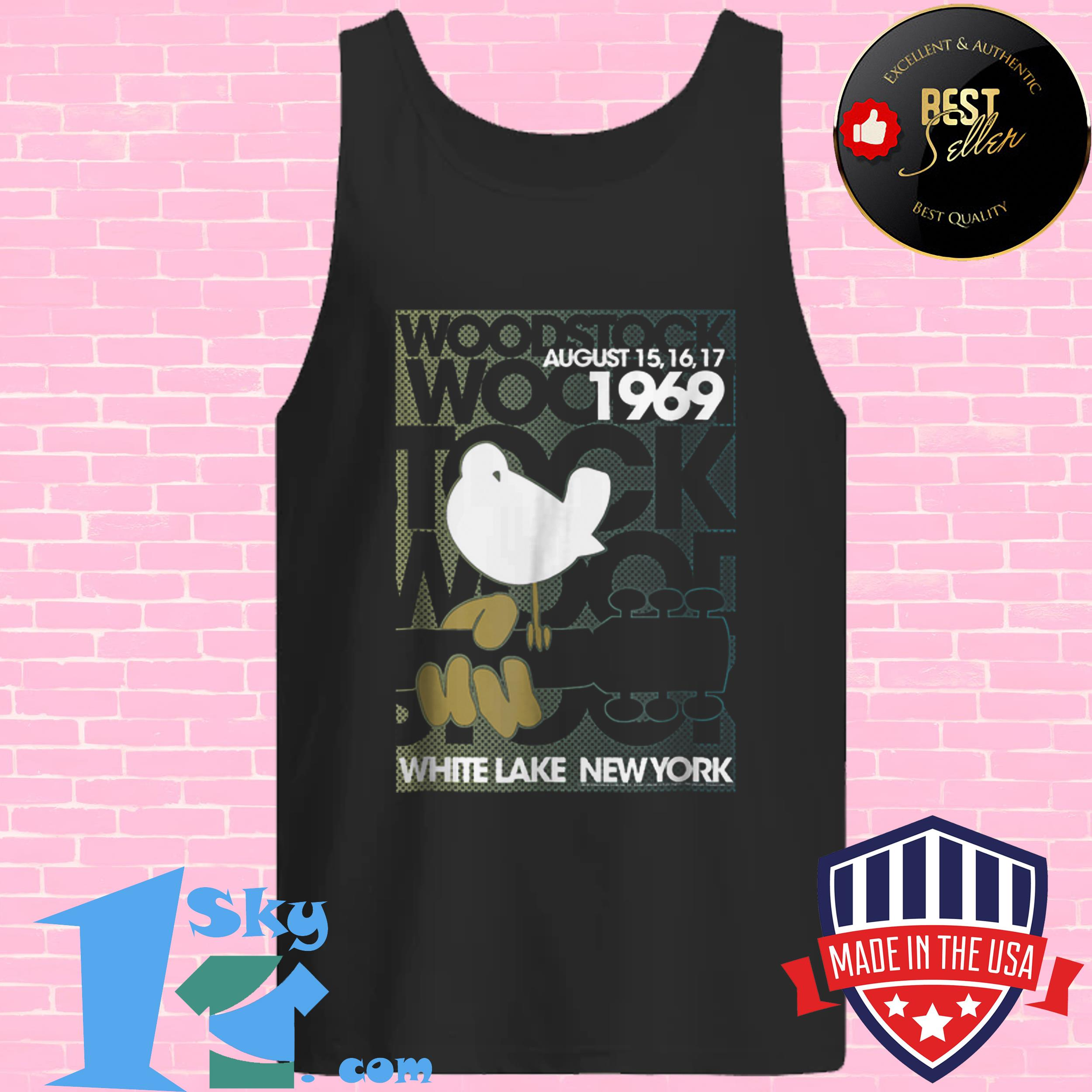 awesome woodstock august 1969 white lake new york tank top - Awesome Woodstock August 1969 White Lake New York shirt