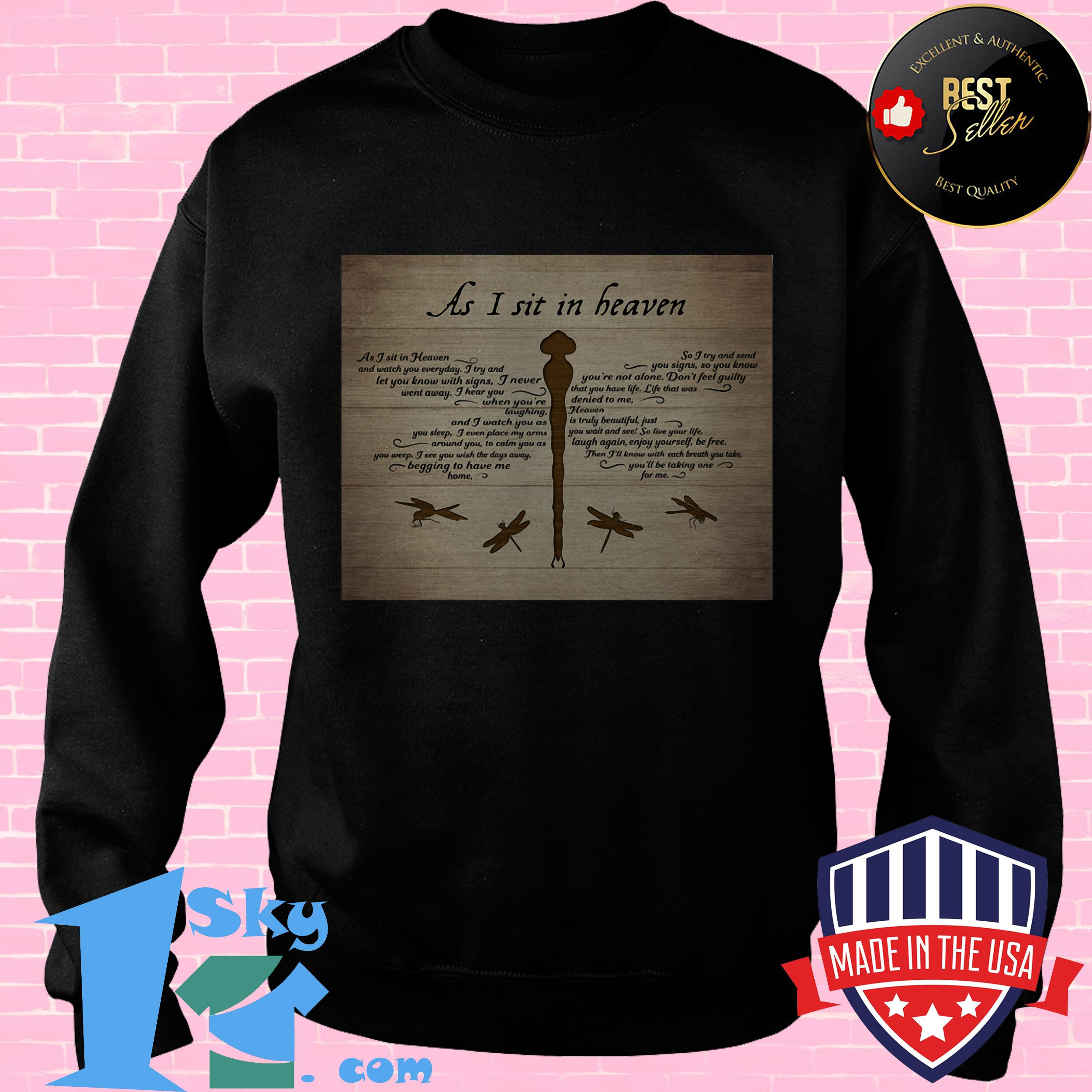 canvas dragonflies as i sit in heaven sweatshirt - Canvas Dragonflies As I Sit In Heaven shirt