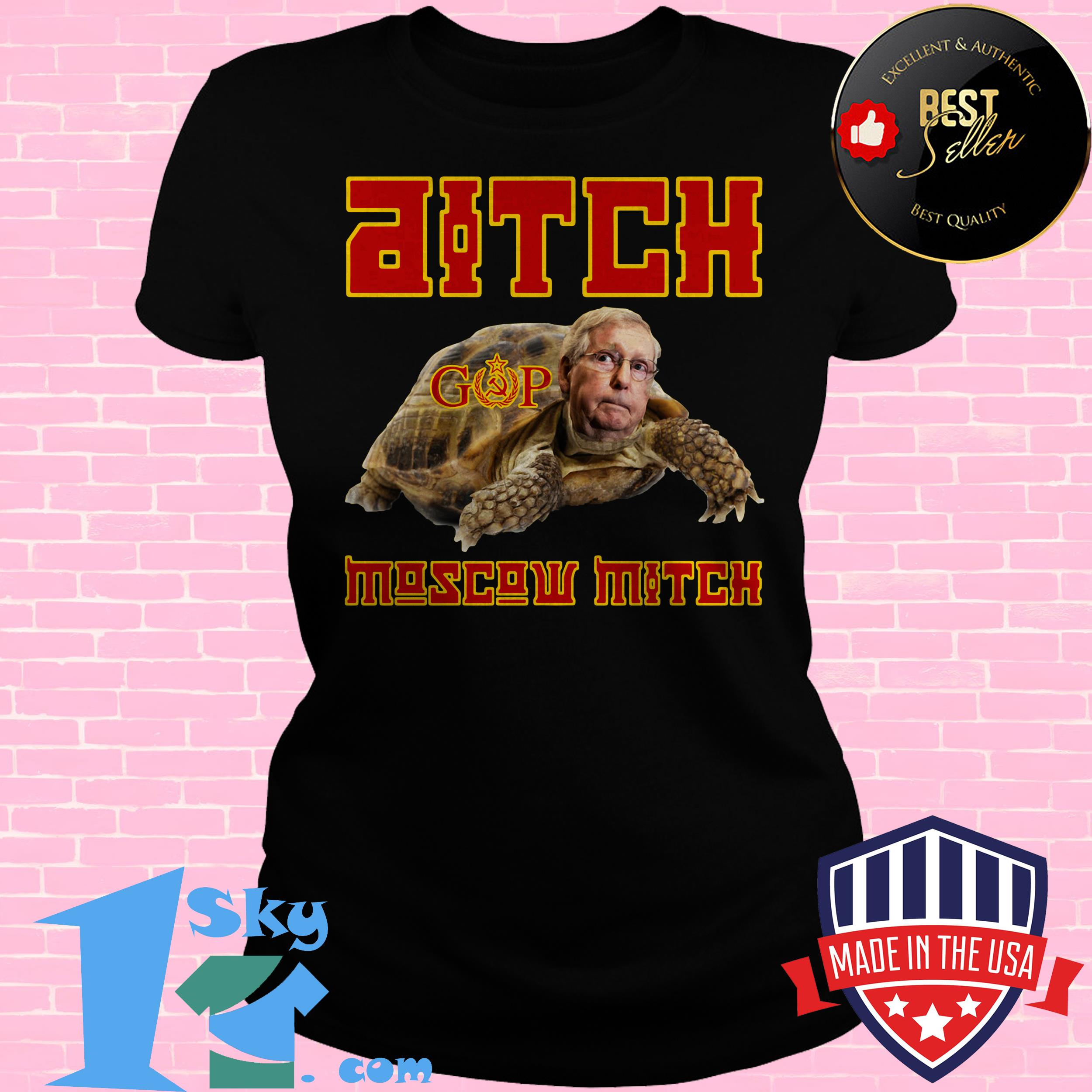 ditch moscow mitch red menace edition ladies tee - Ditch Moscow Mitch - Red Menace Edition shirt