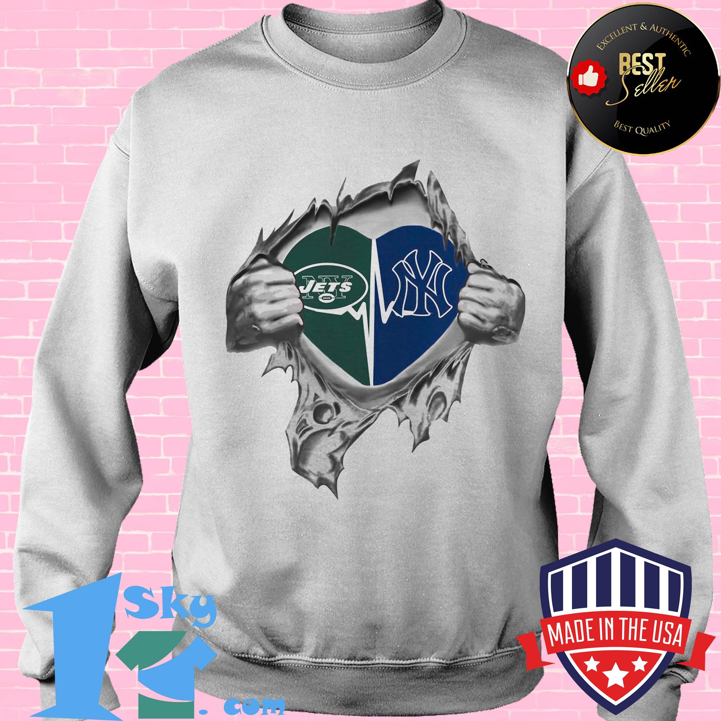 jets yankees its in my heart inside me sweatshirt - Jets Yankees It's In My Heart Inside Me shirt