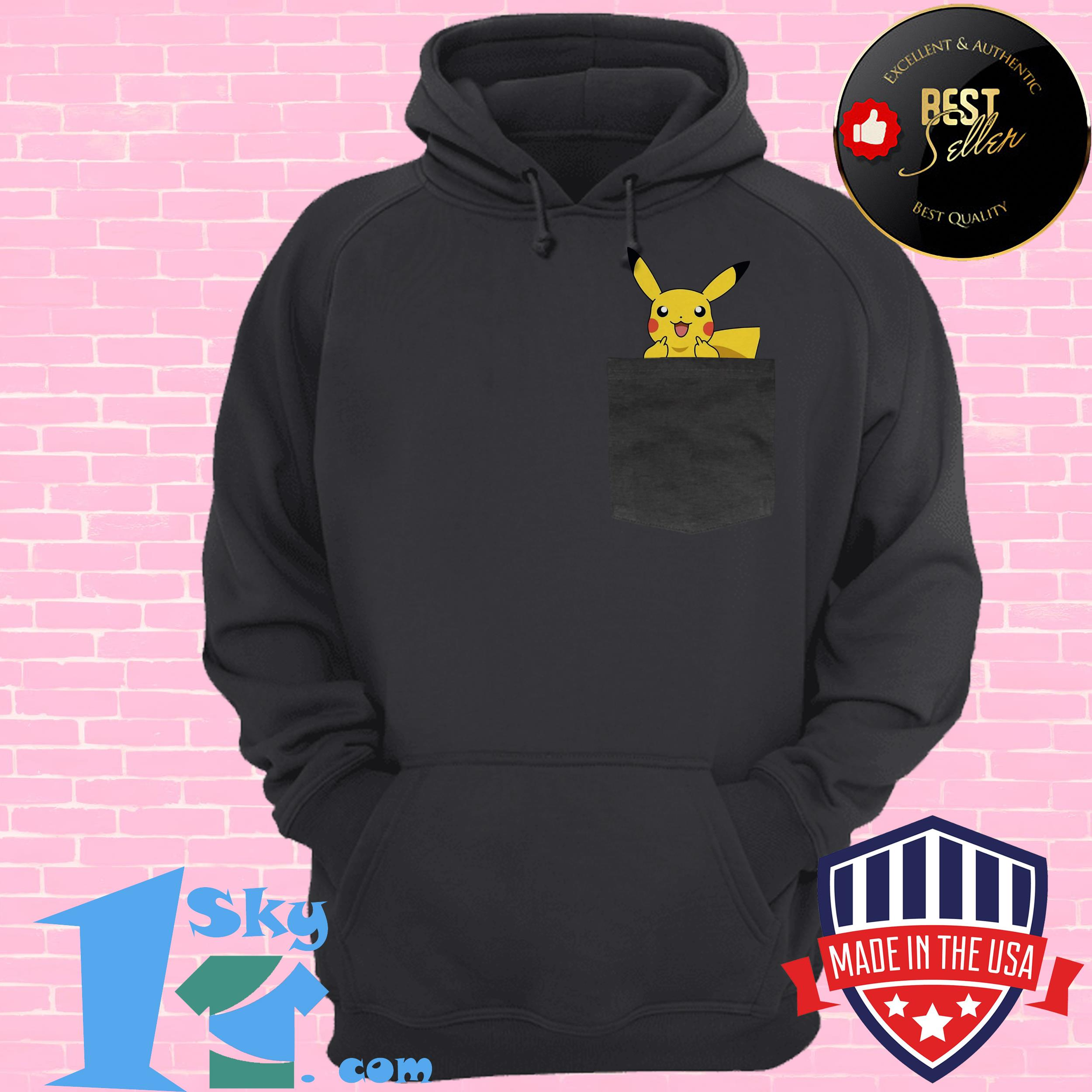 official surprised pikachu pocket cute hoodie - Official Surprised Pikachu Pocket Cute shirt
