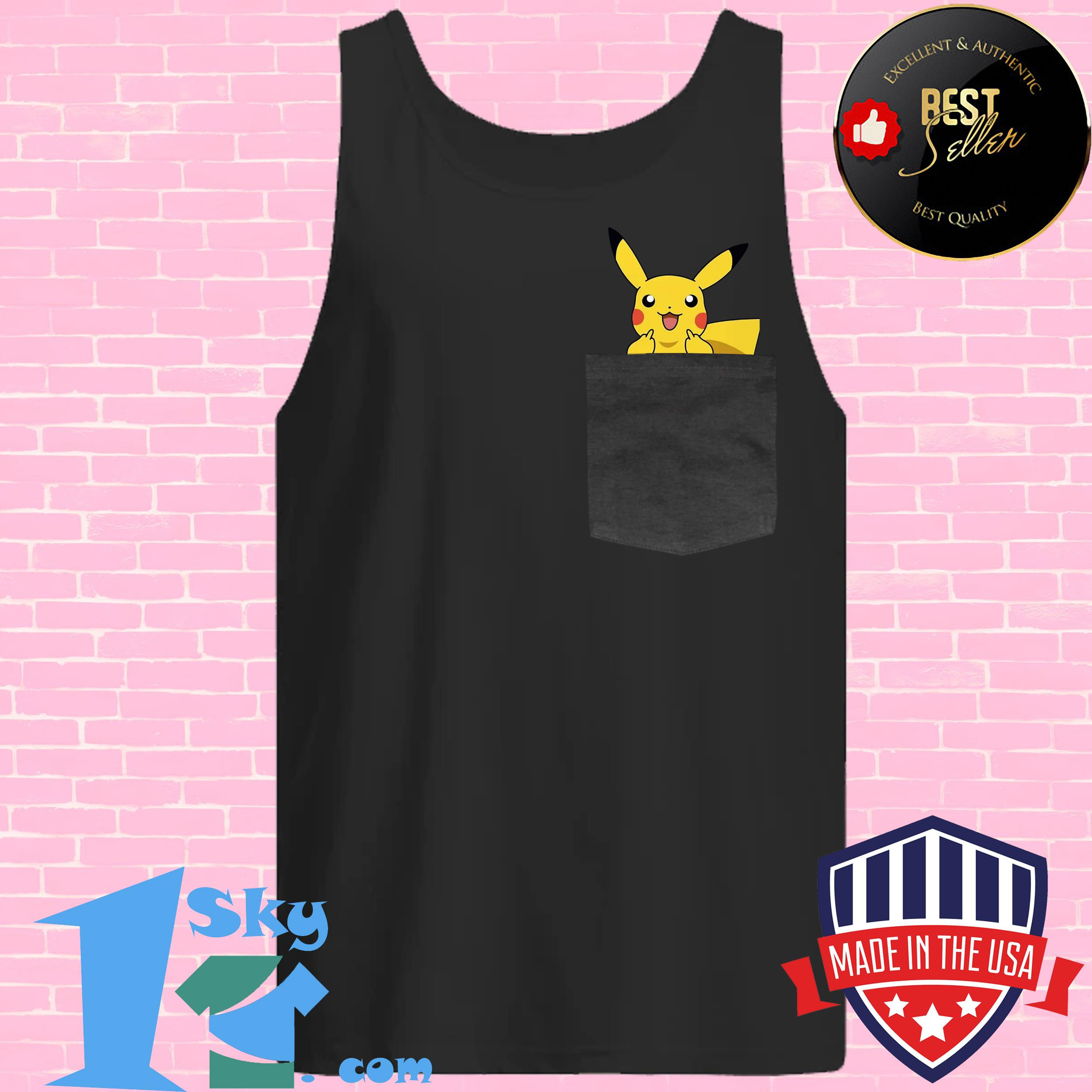 official surprised pikachu pocket cute tank top - Official Surprised Pikachu Pocket Cute shirt