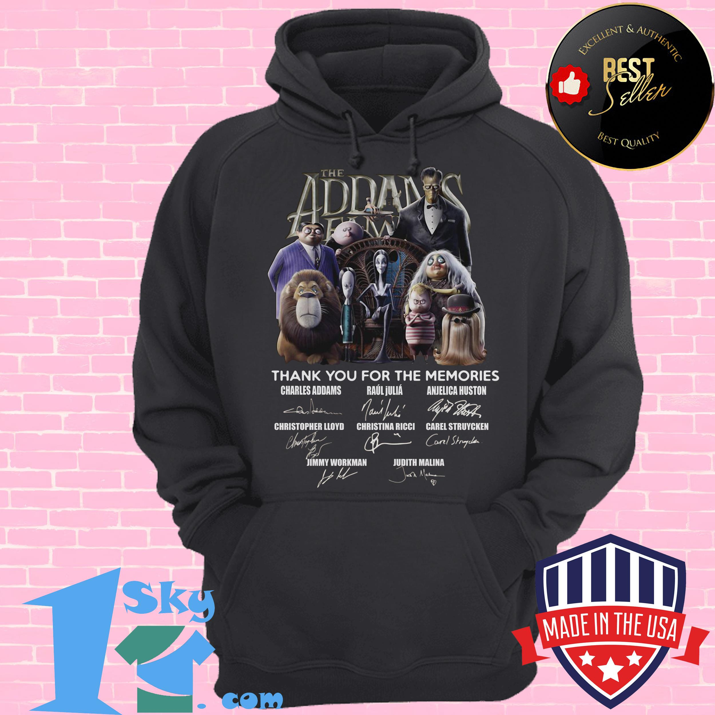 the addams family thank you for the memories signature hoodie - The Addams Family Thank You For The Memories Signature Shirt