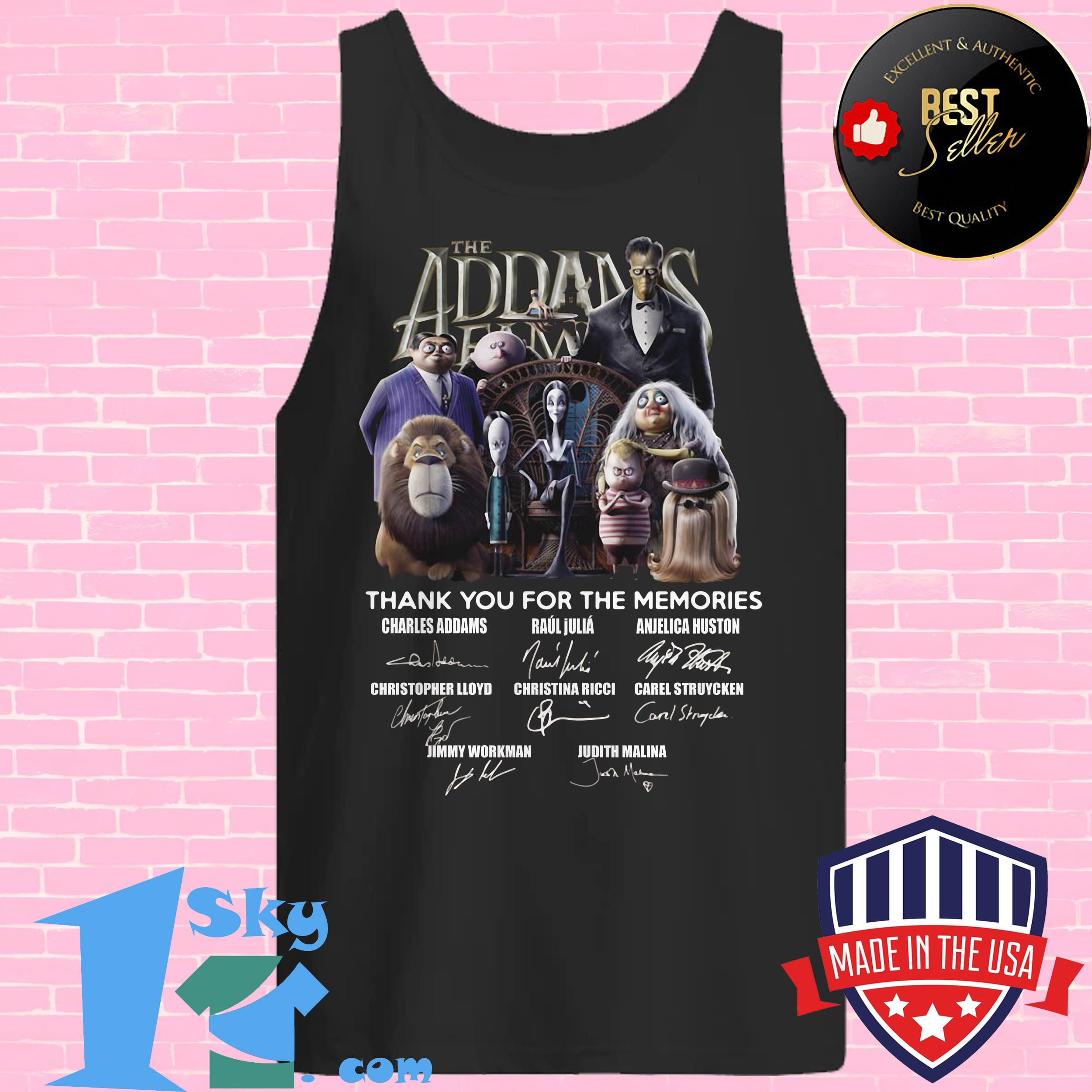 the addams family thank you for the memories signature tank top - The Addams Family Thank You For The Memories Signature Shirt