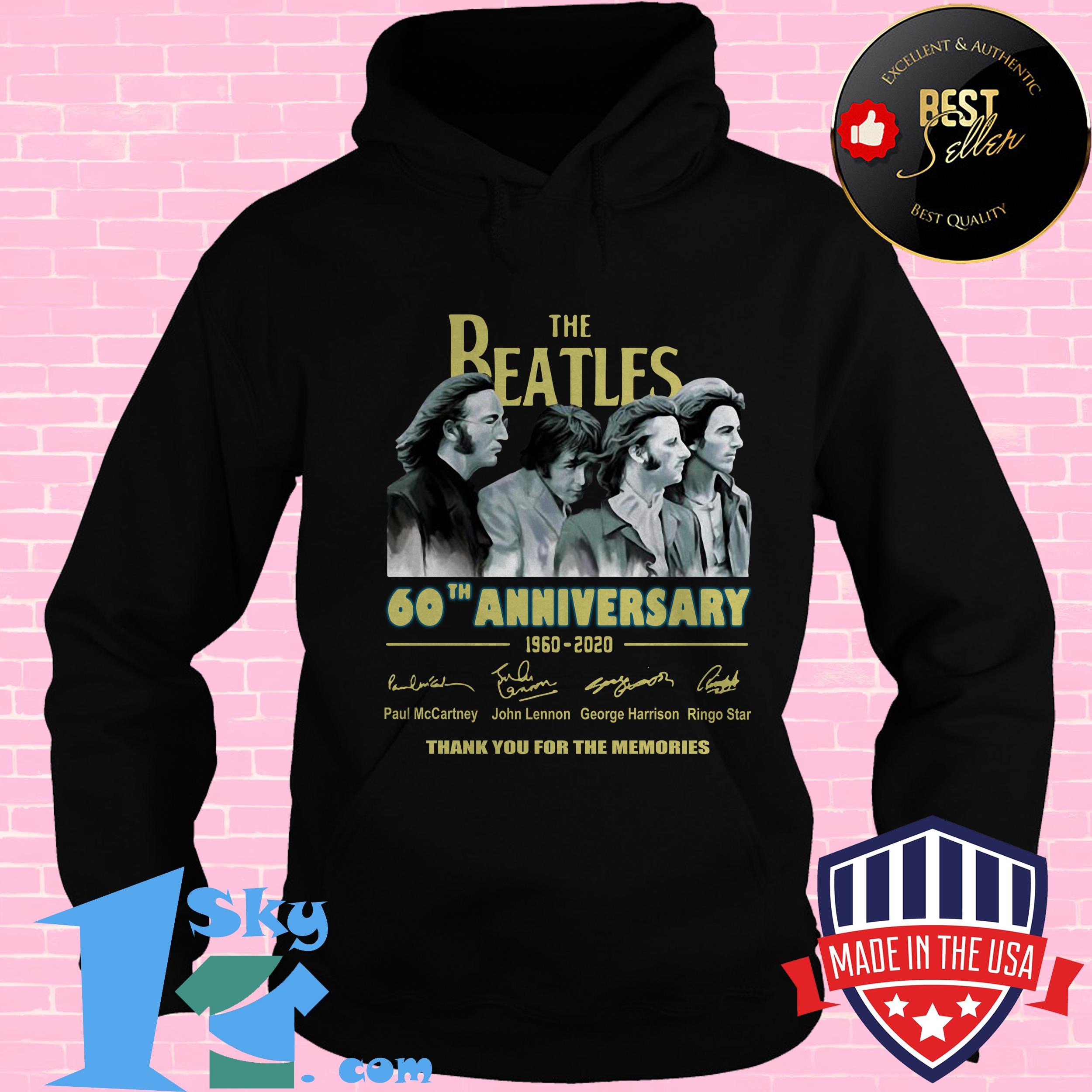 the beatles 60th anniversary 1960 2020 memories signature hoodie - The Beatles 60th Anniversary 1960 2020 Memories Signature shirt