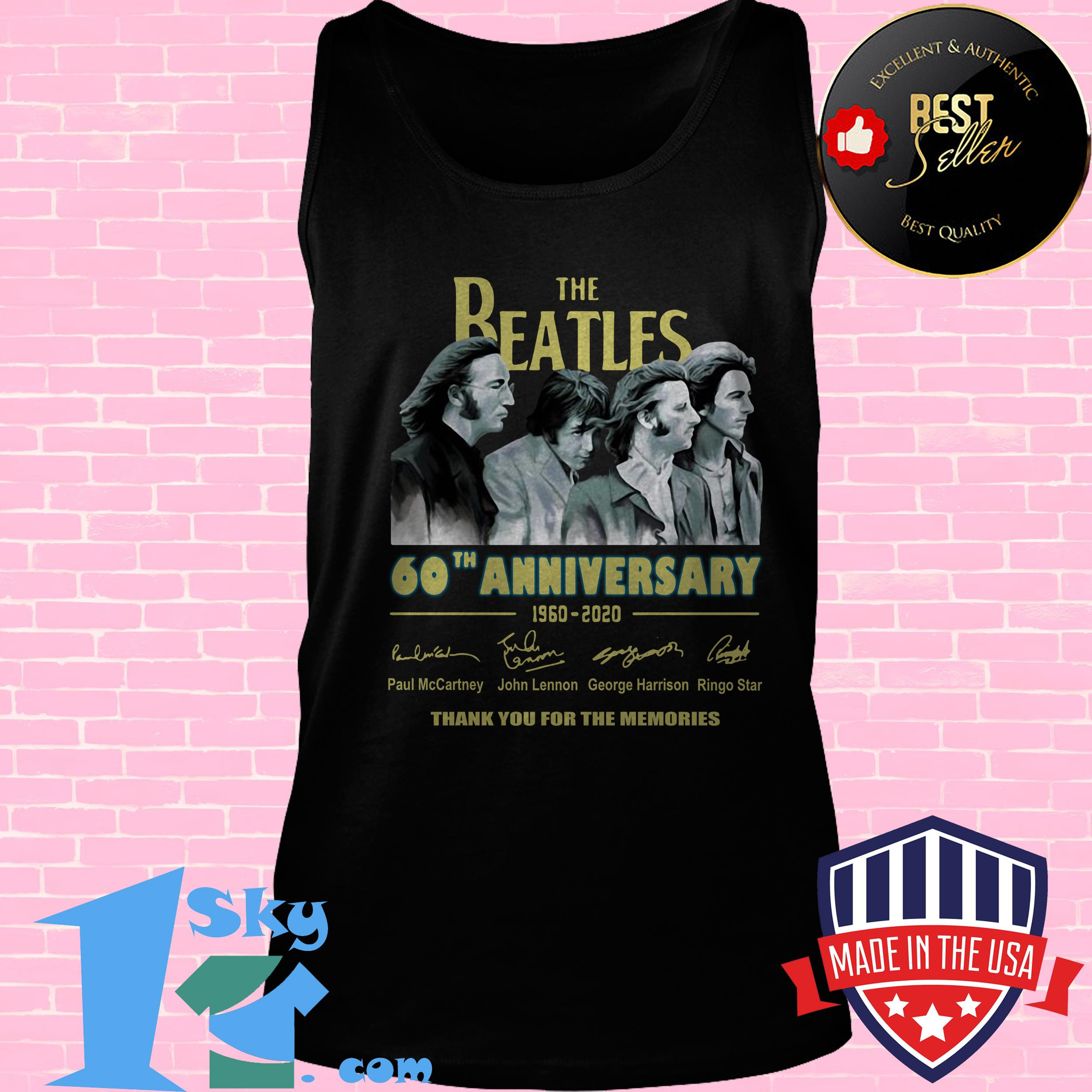 the beatles 60th anniversary 1960 2020 memories signature tank top - The Beatles 60th Anniversary 1960 2020 Memories Signature shirt
