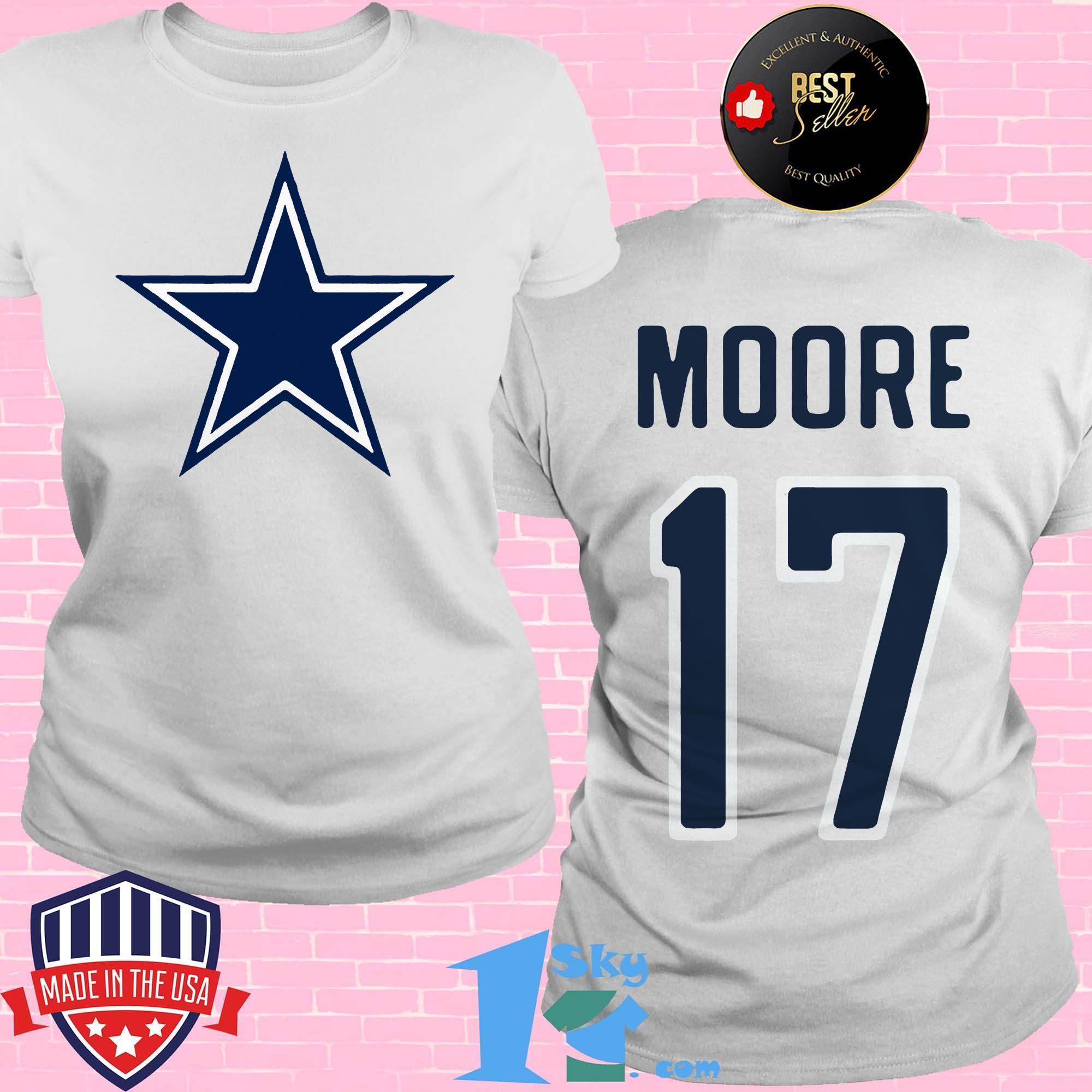 17 kellen moore dallas cowboys ladies tee - 17 Kellen Moore Dallas Cowboys shirt