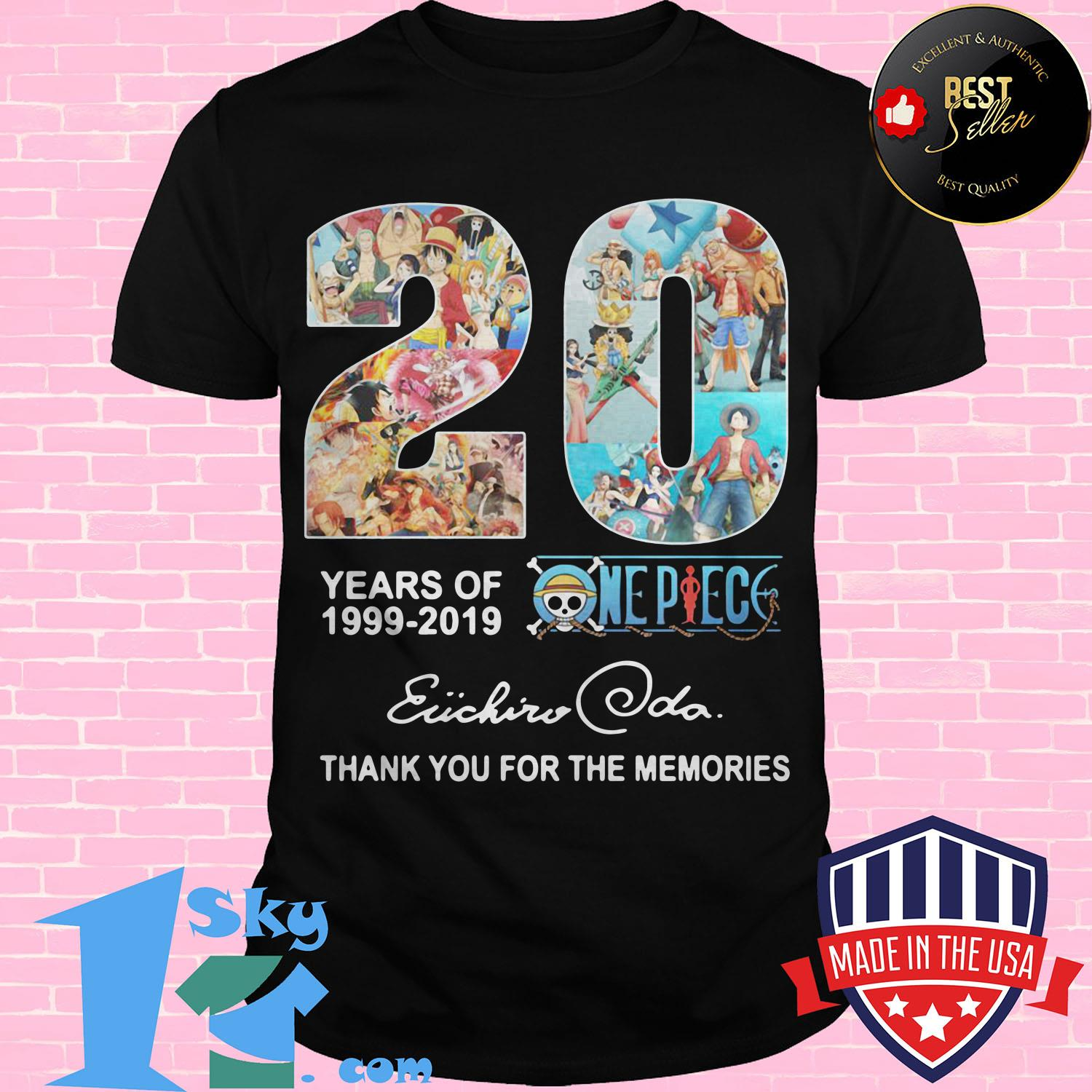 20 year of one piece anime anniversary 1999 2019 eiichiro oda ladies tee - 20 year of One Piece Anime anniversary 1999 2019 Eiichiro Oda shirt