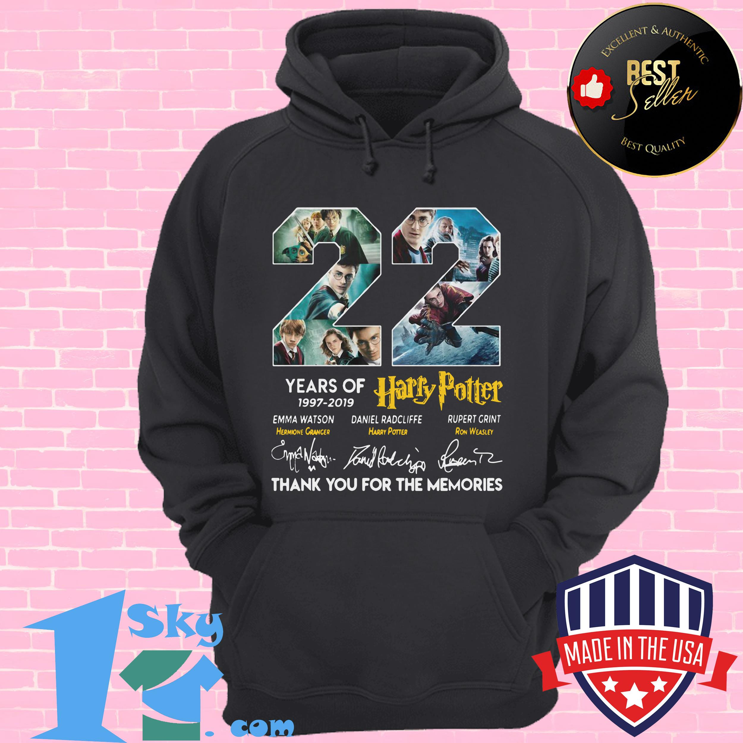 22 years of harry potter 1997 2019 signature hoodie - 22 Years Of Harry Potter 1997 – 2019 Signature shirt