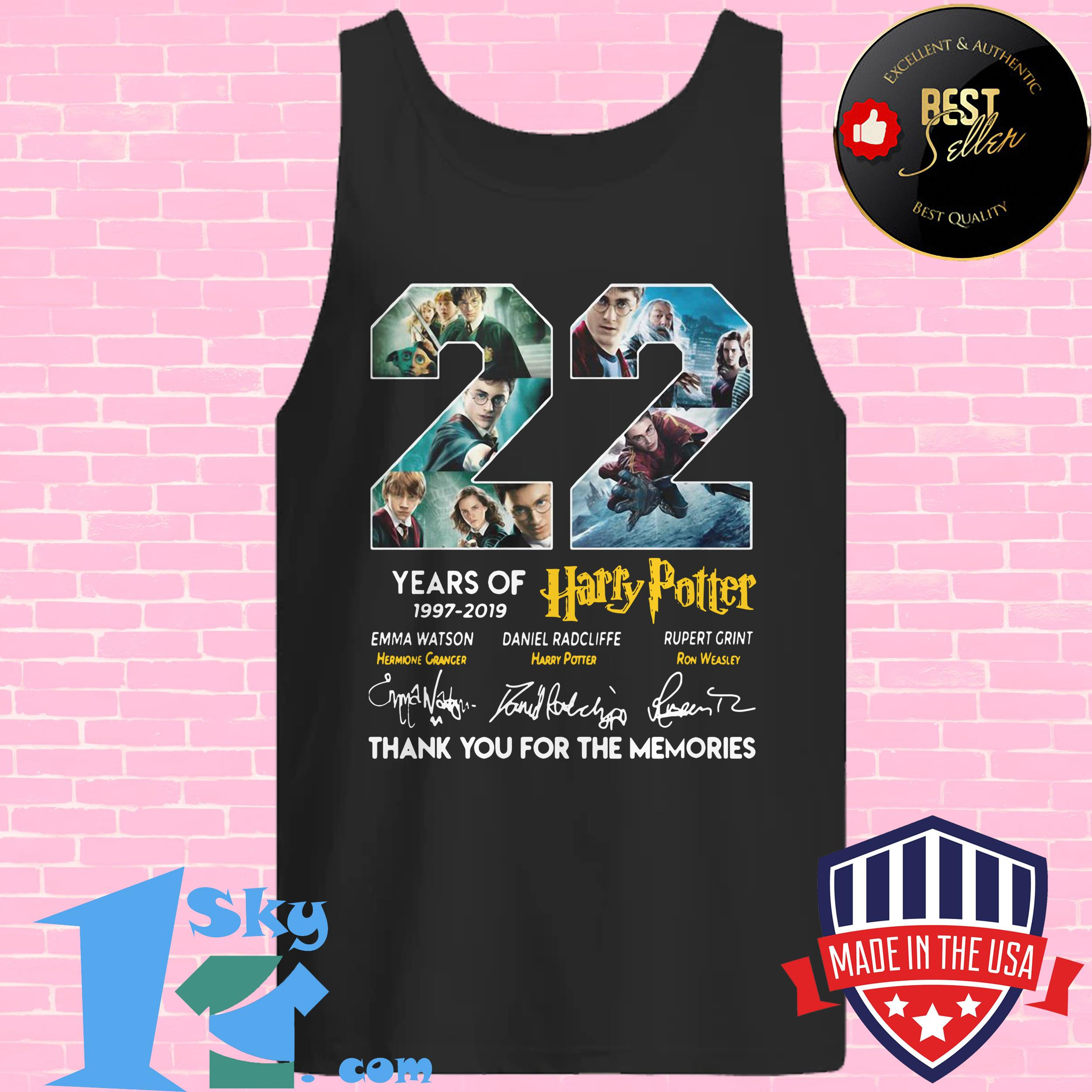 22 years of harry potter 1997 2019 signature tank top - 22 Years Of Harry Potter 1997 – 2019 Signature shirt