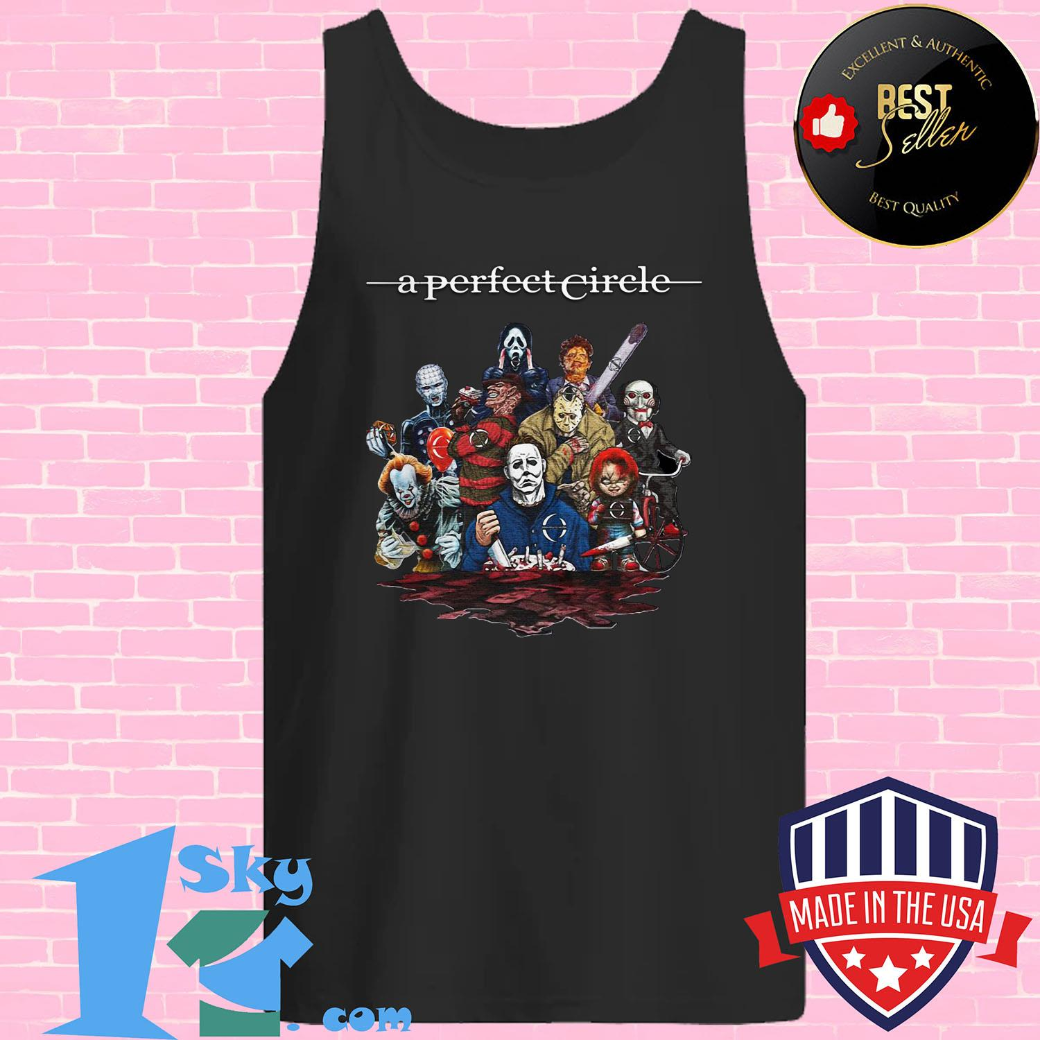 a perfect circle killers characters halloween tank top - A perfect Circle Killers Characters Halloween shirt