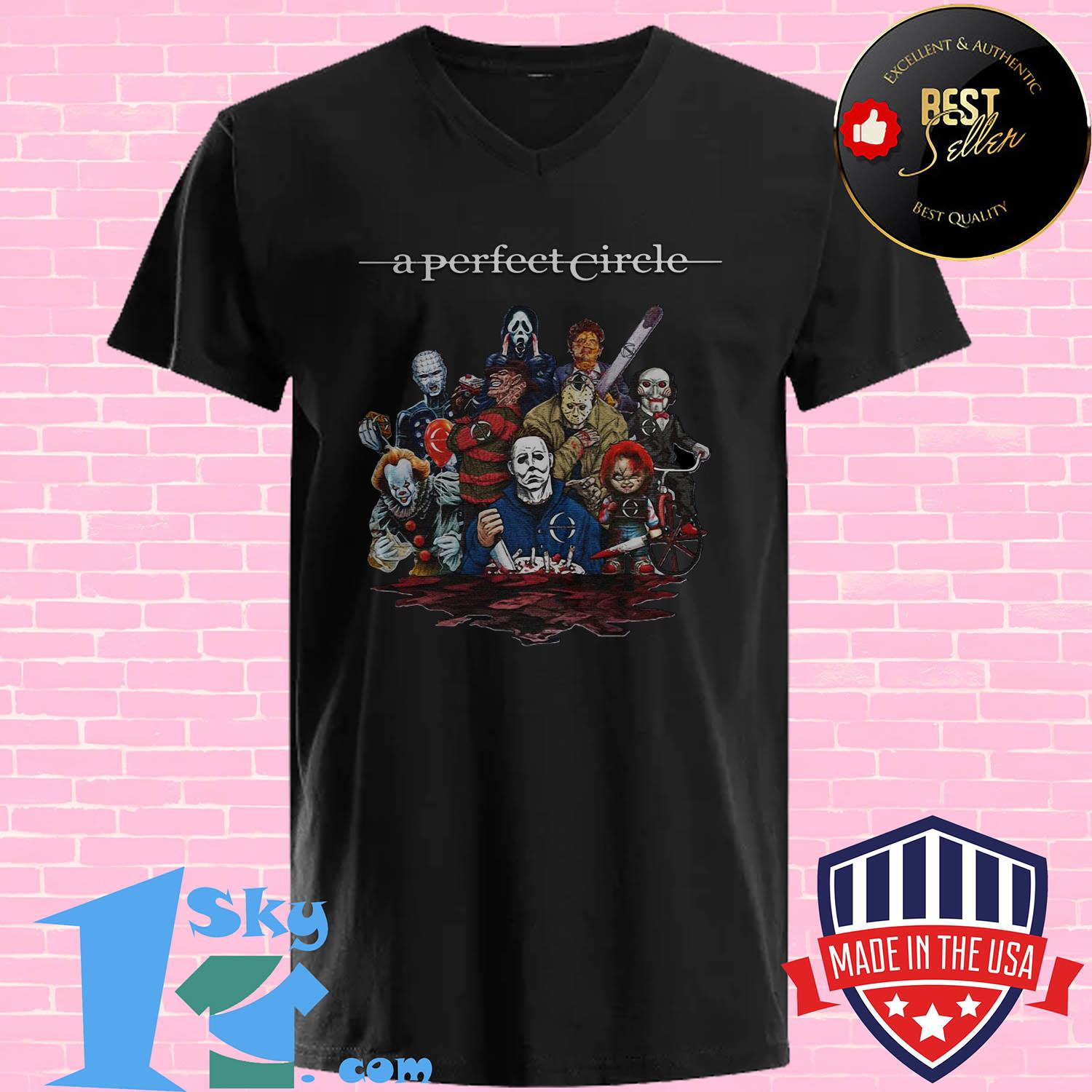 a perfect circle killers characters halloween v neck - A perfect Circle Killers Characters Halloween shirt