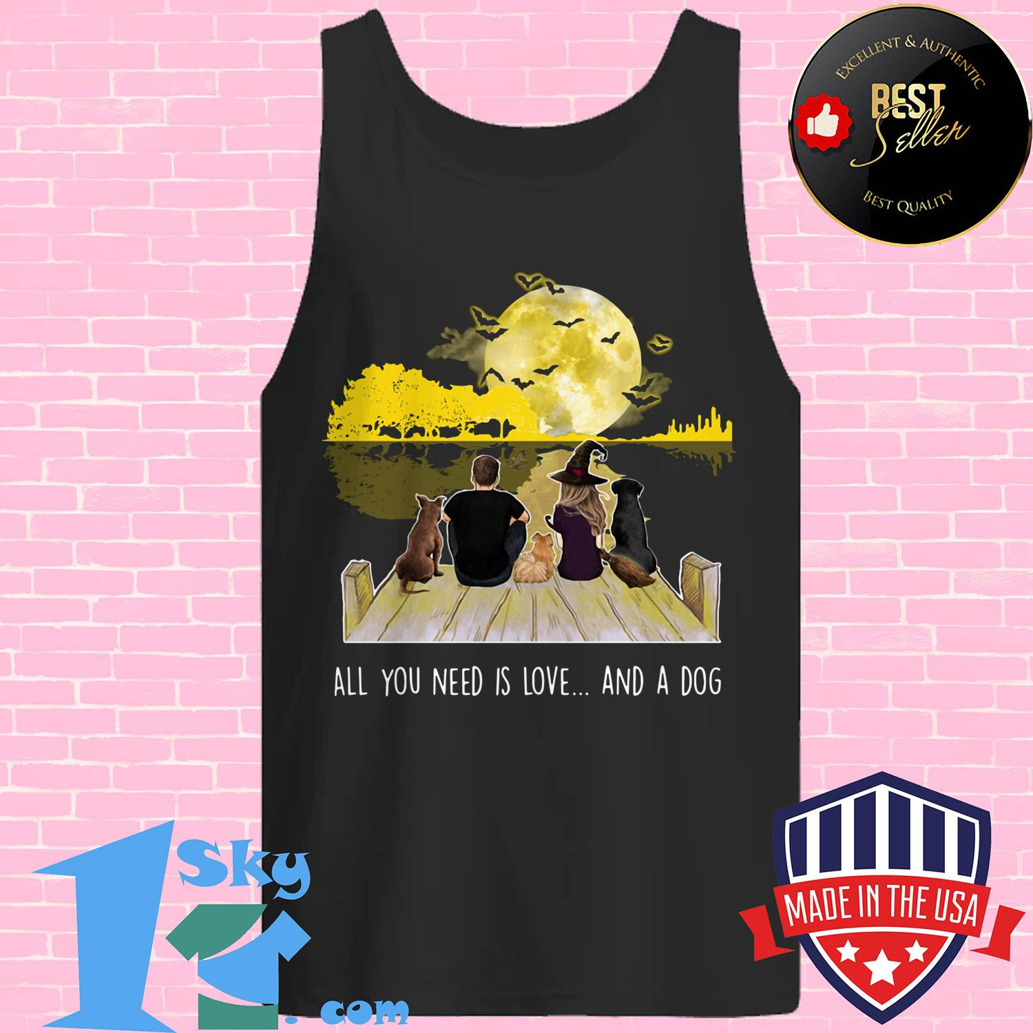 all you need is love and a dog halloween tank top - All You Need is Love and A Dog Halloween shirt