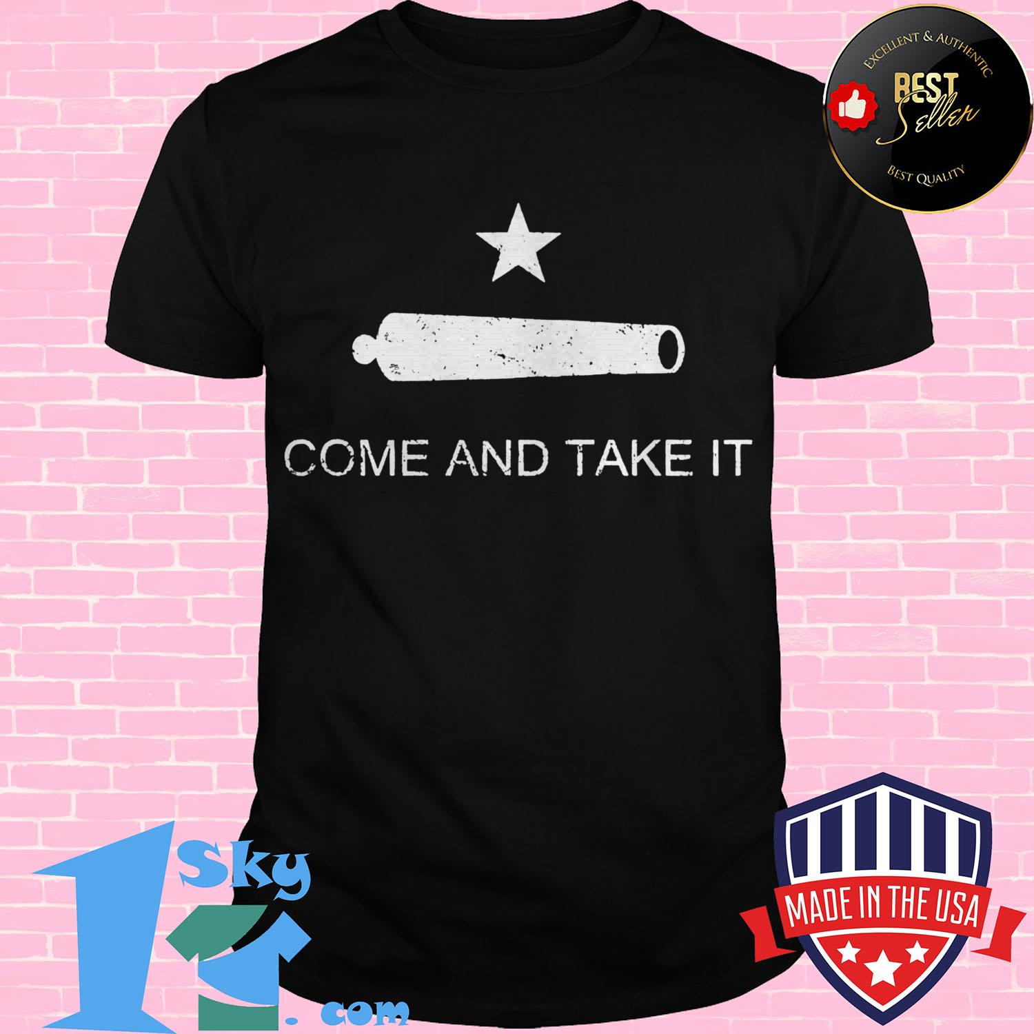 historic texas flag come and take it ladies tee - Historic Texas Flag Come and Take It shirt