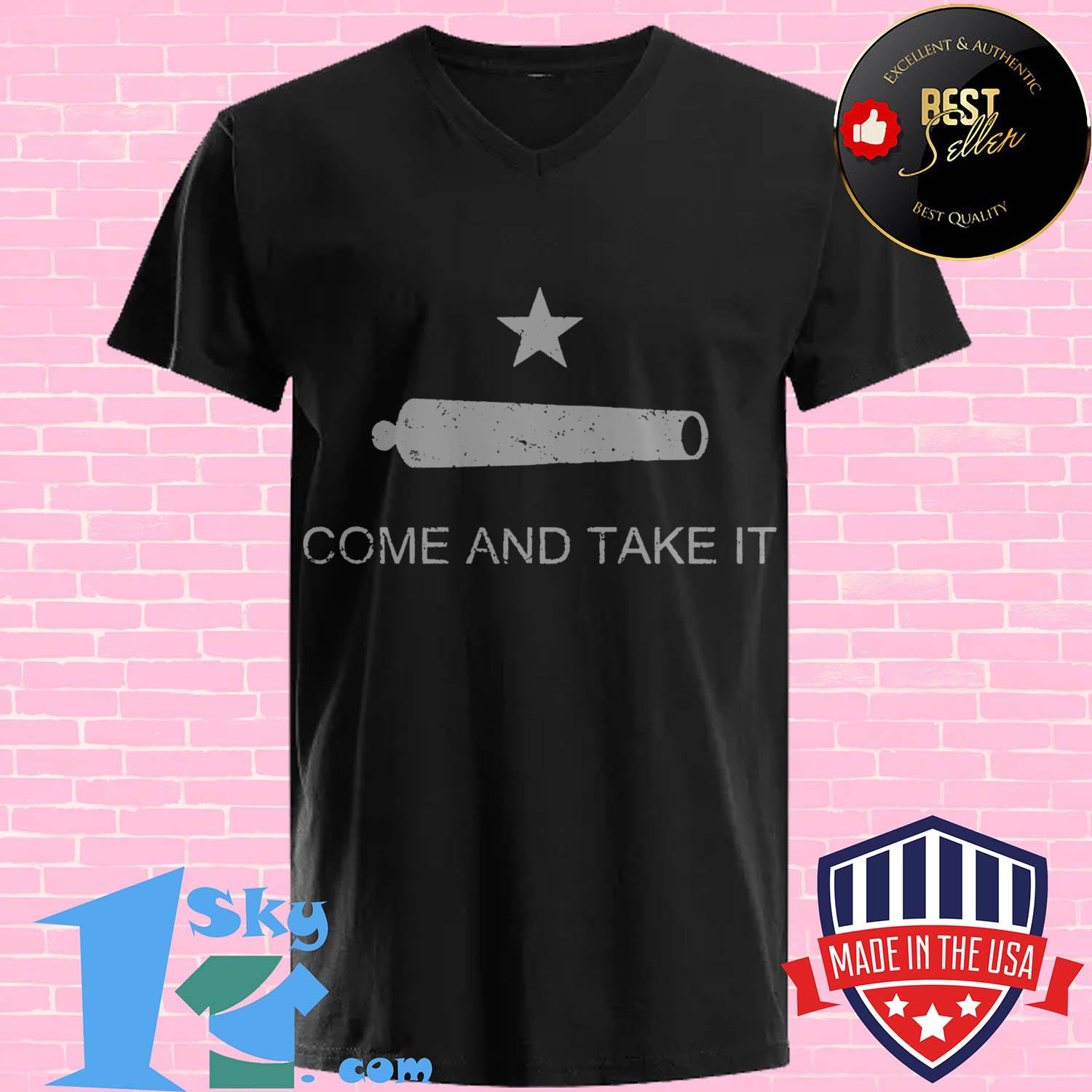 historic texas flag come and take it v neck - Historic Texas Flag Come and Take It shirt