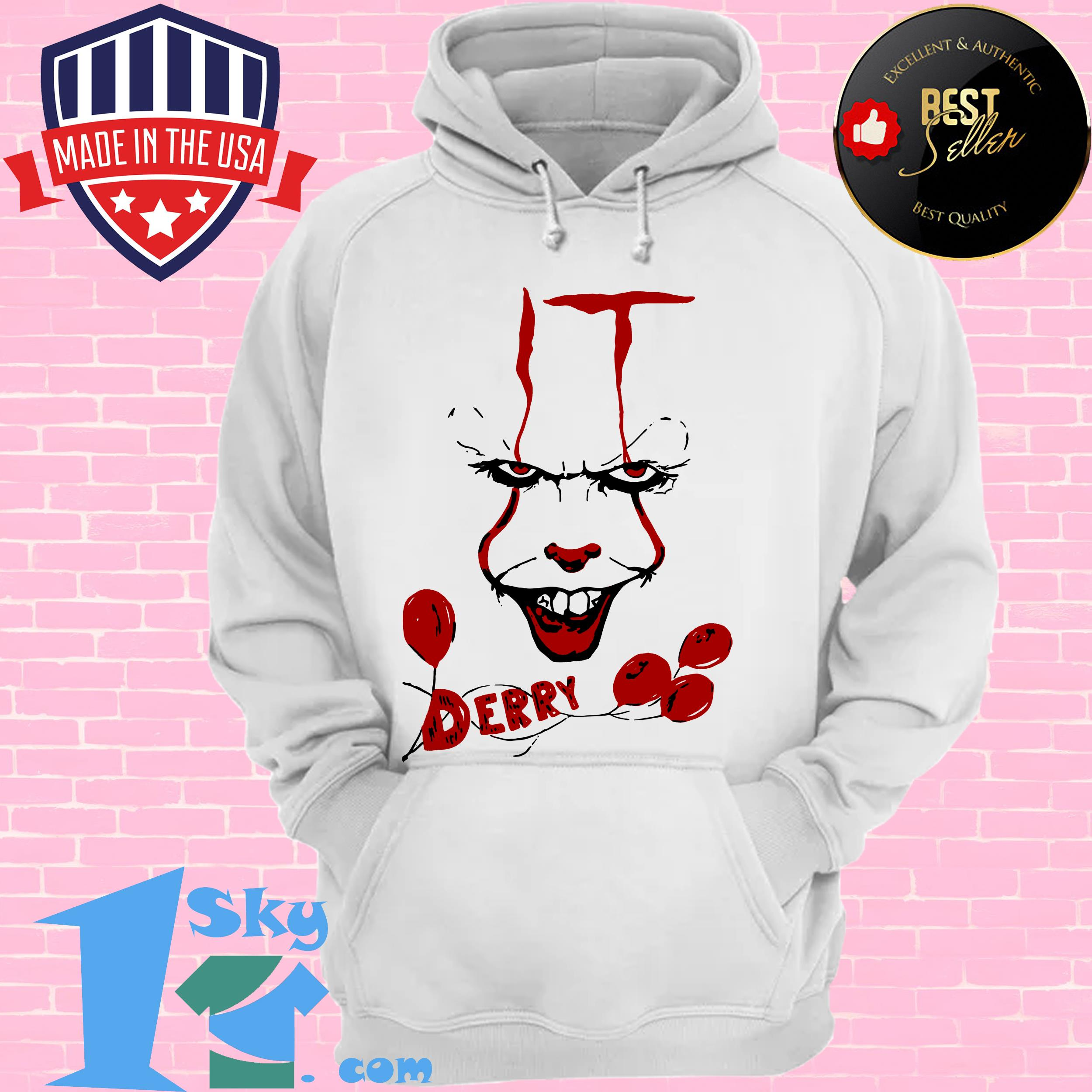 it pennywise killer clown chud stephen king derry maine hoodie - IT Pennywise Killer Clown Chud Stephen King Derry Maine shirt