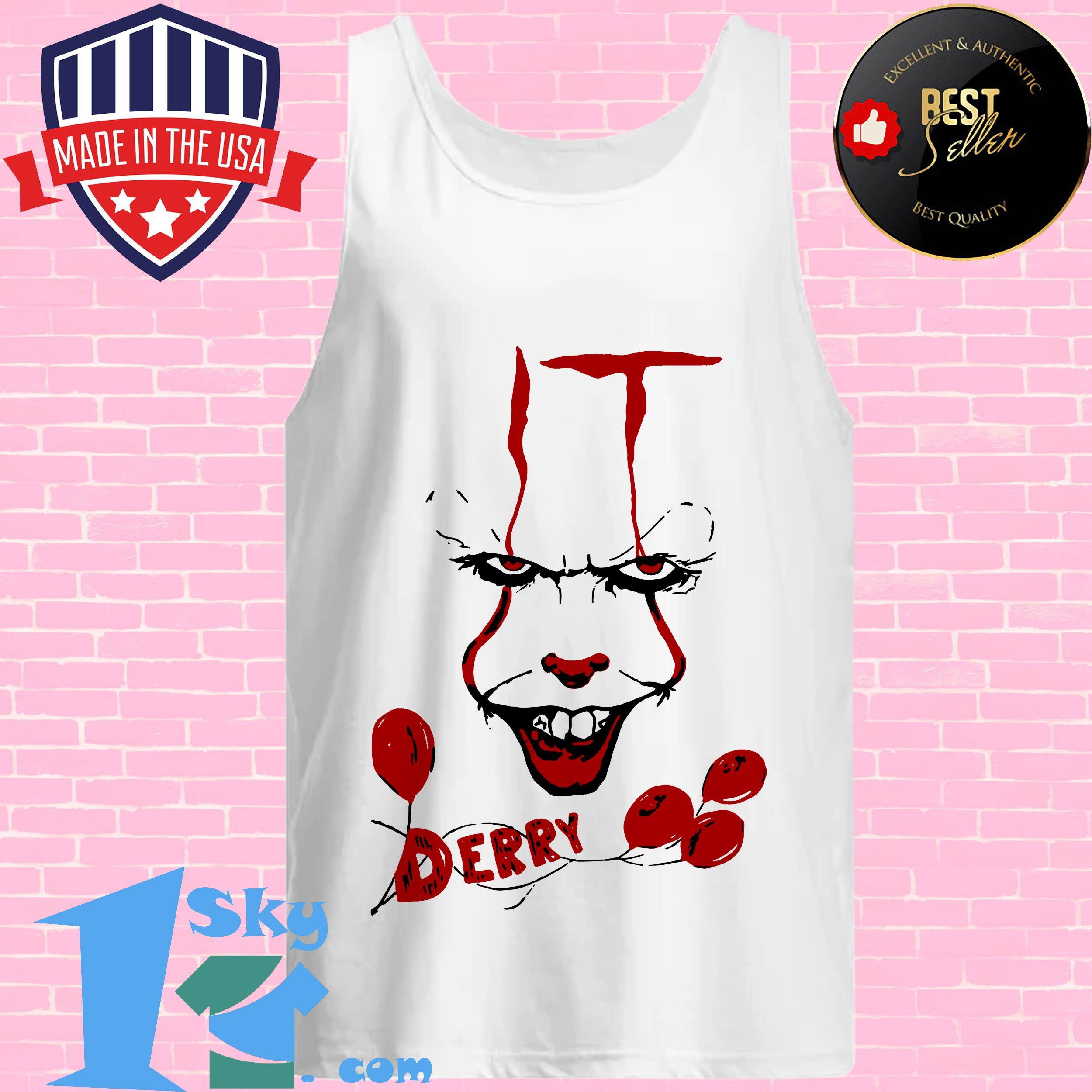 it pennywise killer clown chud stephen king derry maine tank top - IT Pennywise Killer Clown Chud Stephen King Derry Maine shirt