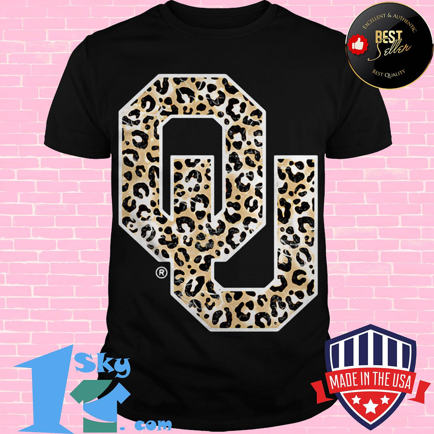 official oklahoma sooners leopard ladies tee - Official Oklahoma Sooners Leopard shirt