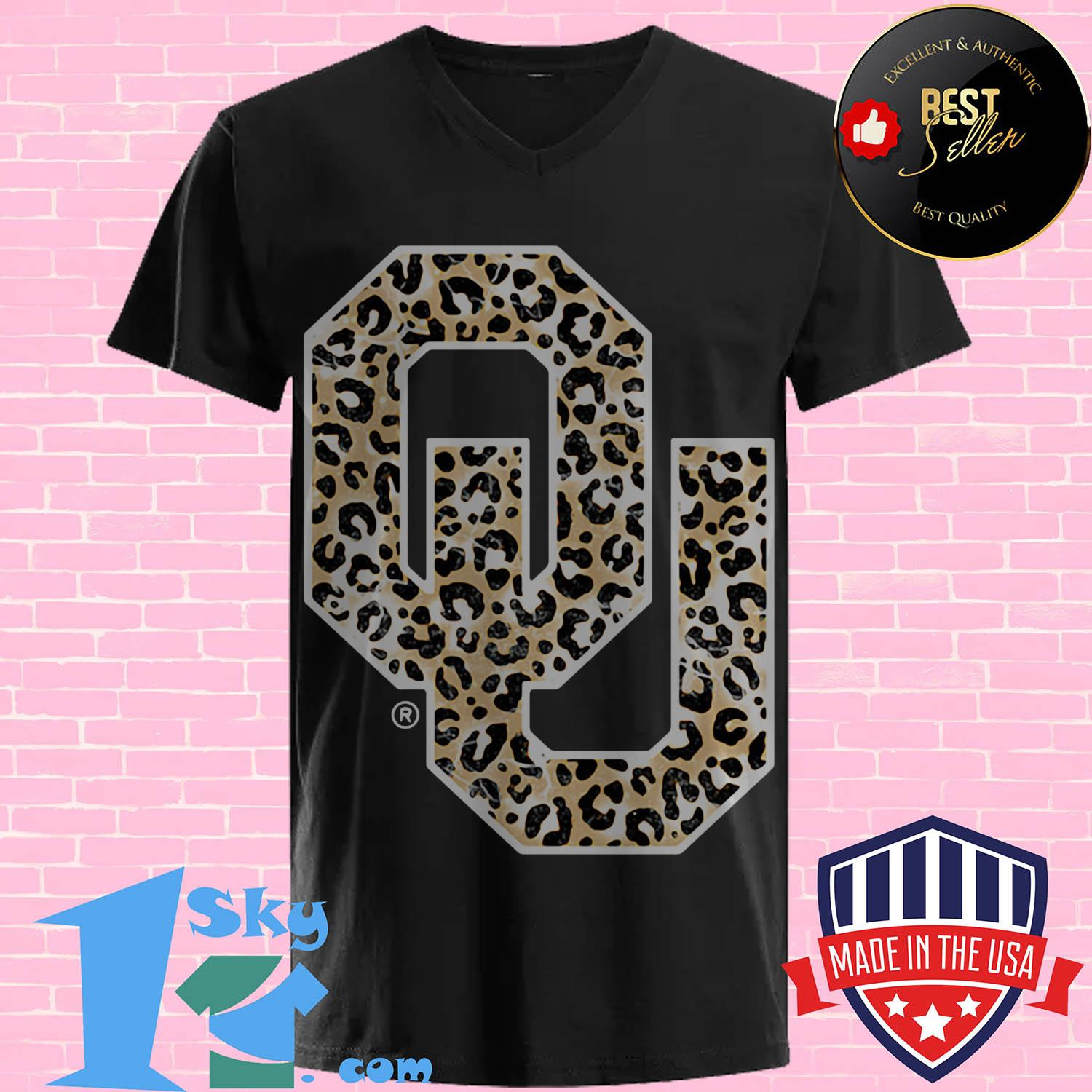 official oklahoma sooners leopard v neck - Official Oklahoma Sooners Leopard shirt