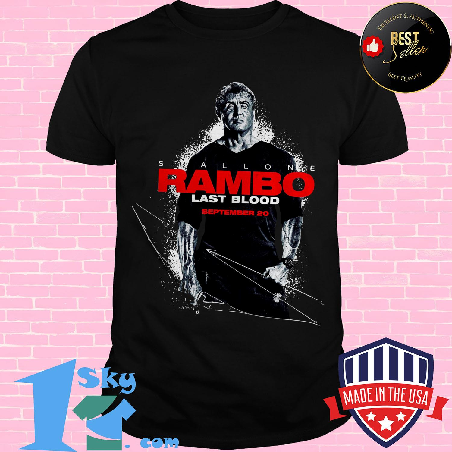 stallone rambo last blood september 20 ladies tee - Stallone Rambo Last Blood September 20 shirt