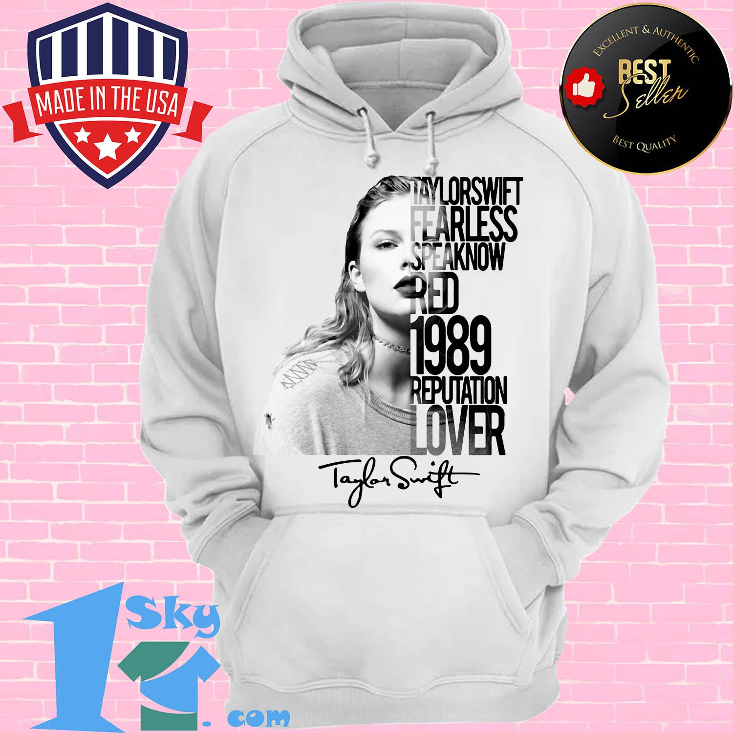taylor swift fearless speak now red 1989 reputation lover poster hoodie - Taylor Swift fearless Speak Now Red 1989 Reputation Lover Poster Signature shirt