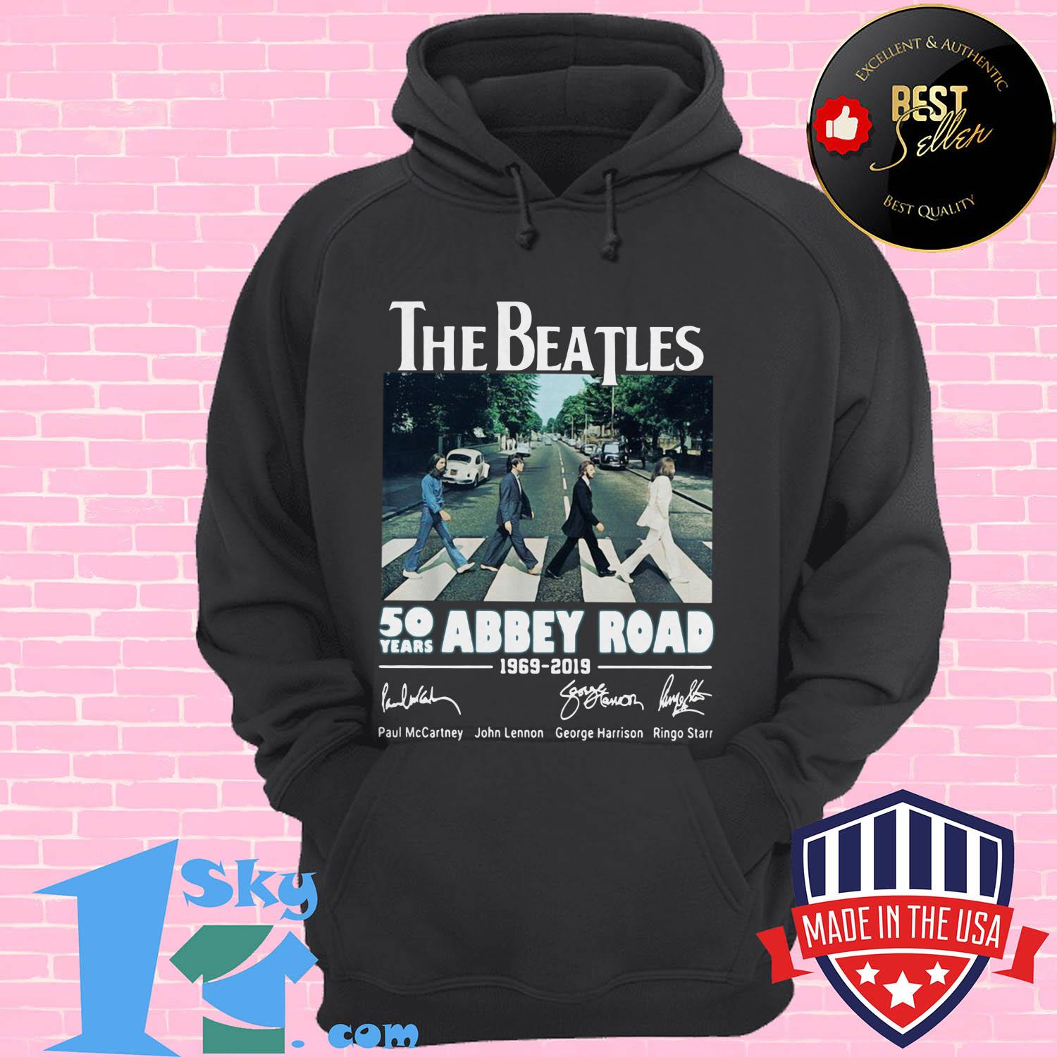 the beatles 50 years abbey road 1969 2019 signature hoodie - The Beatles 50 years Abbey Road 1969–2019 signature shirt