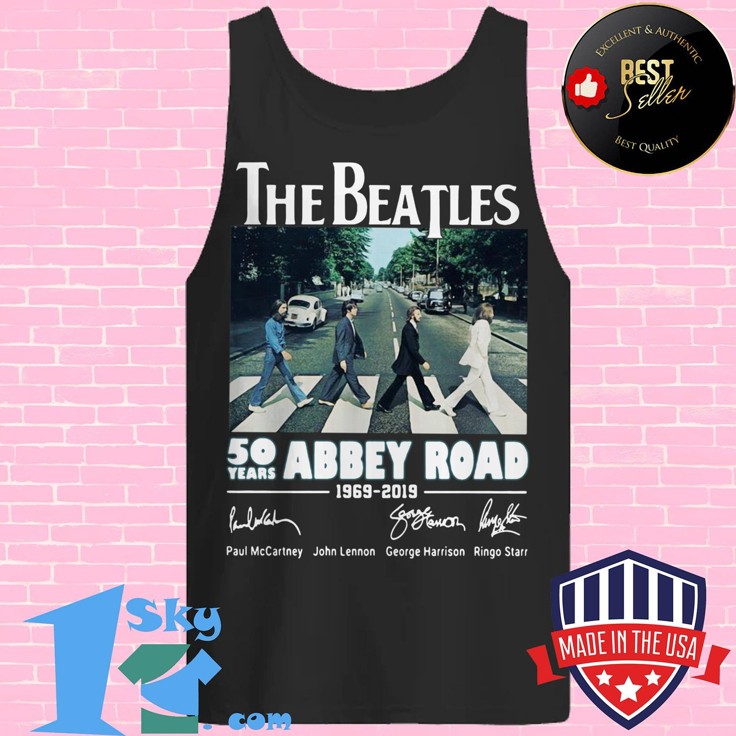 the beatles 50 years abbey road 1969 2019 signature tank top - The Beatles 50 years Abbey Road 1969–2019 signature shirt