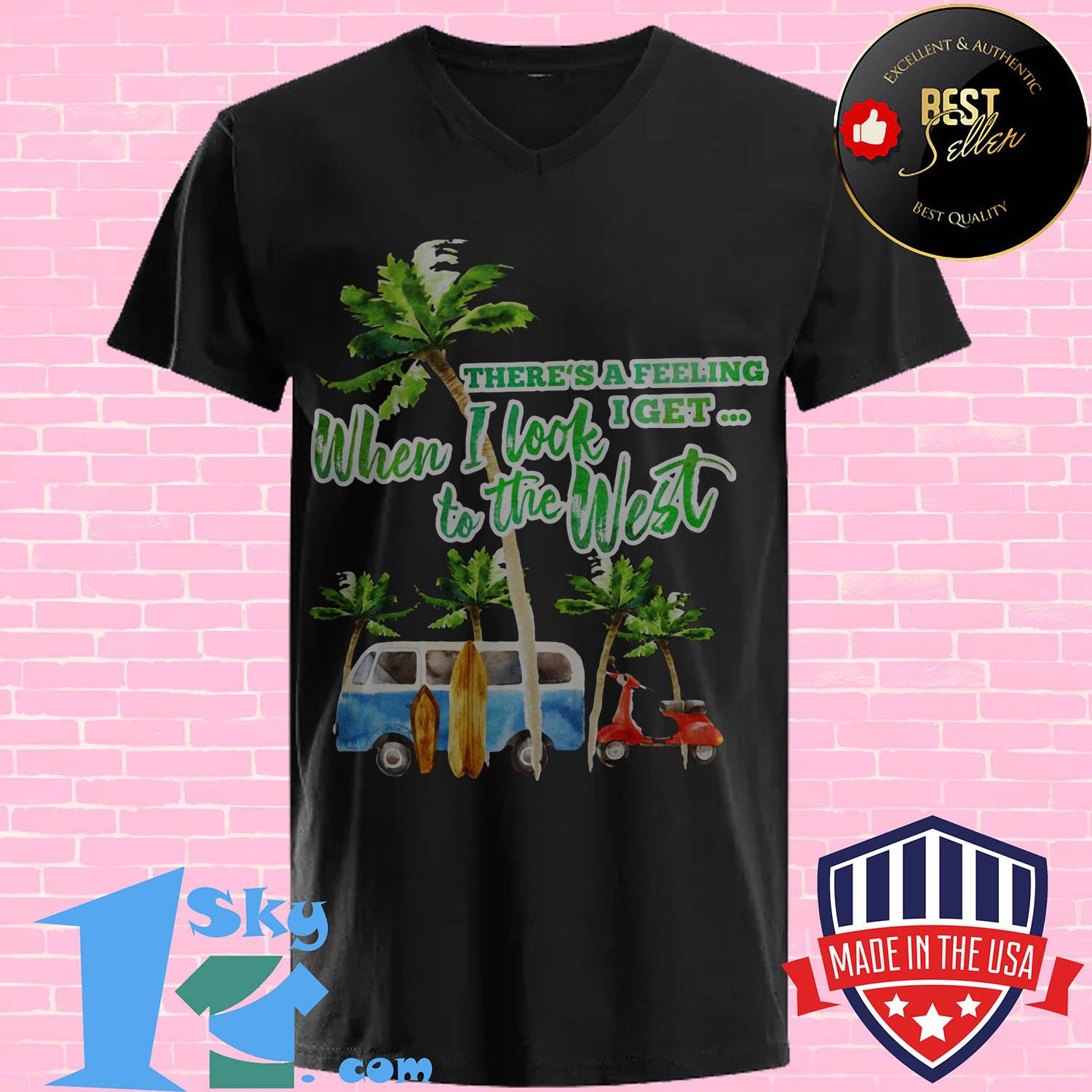 theres a feeling i get when i look to the west coconut tree vintage v neck - There's a feeling I get when I look to the West Coconut tree Vintage shirt