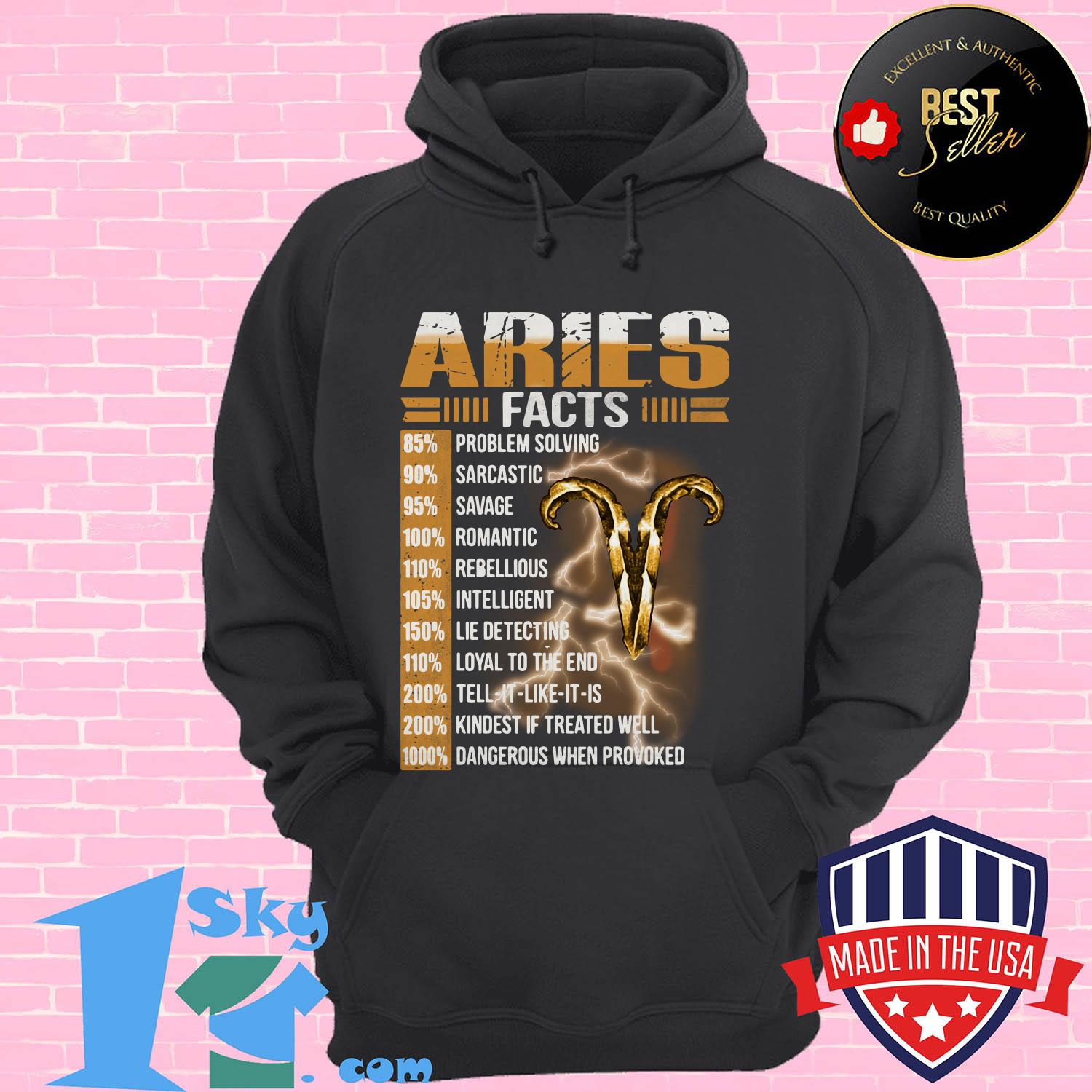 aries facts 85 problem solving 90 sarcastic 95 savage hoodie - Aries facts 85% problem solving 90% sarcastic 95% savage shirt