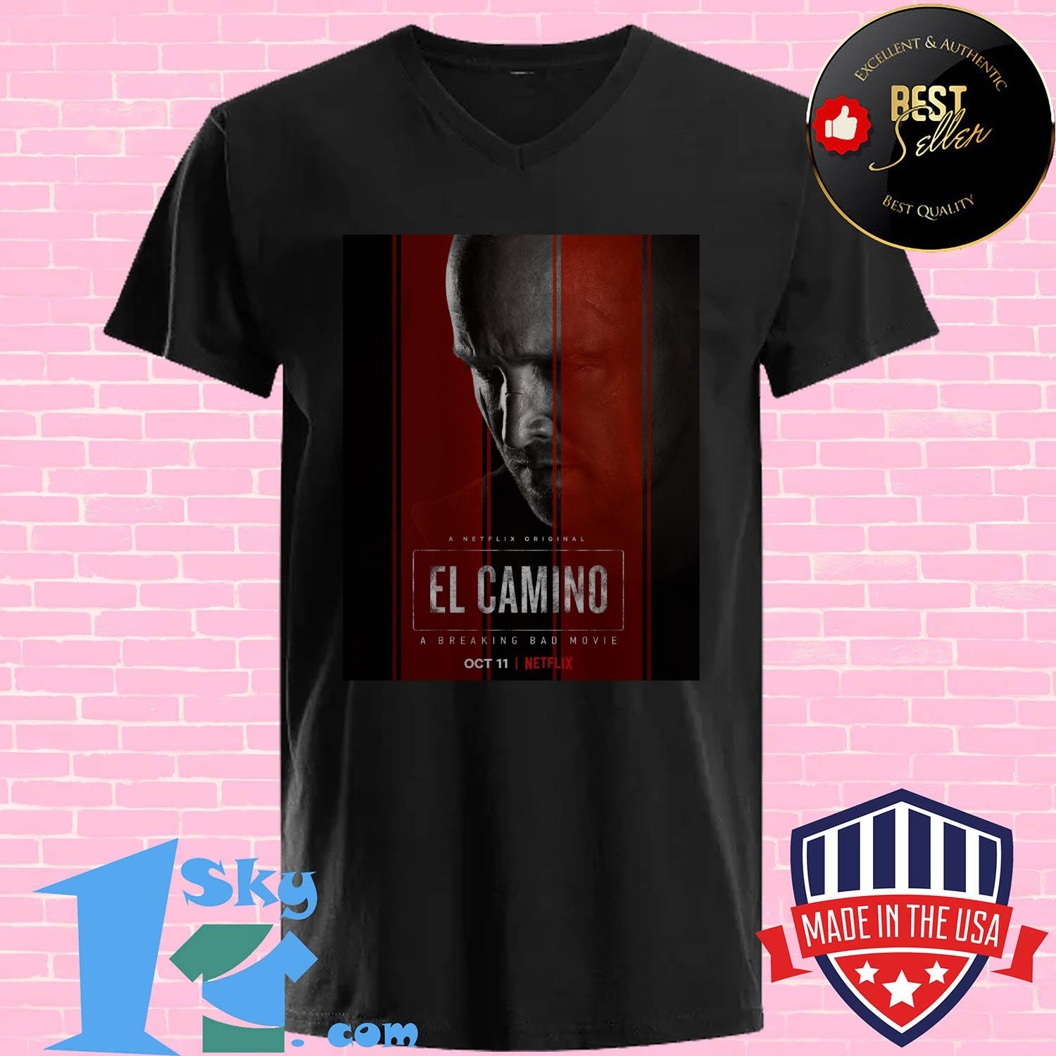 el camino a breaking bad movie 11 october 2019 v neck - EL Camino a Breaking Bad movie 11 October 2019 shirt