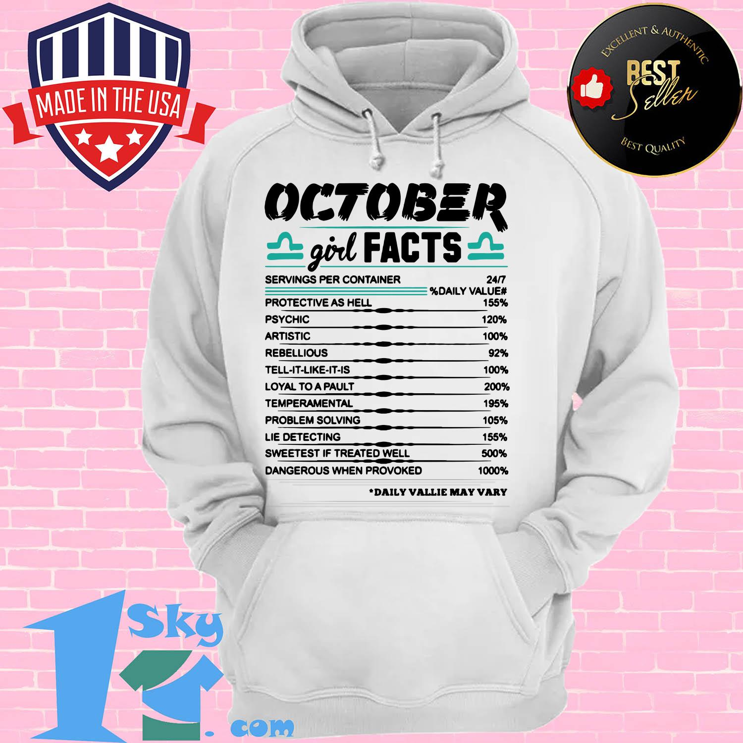 libra october girl facts serving per container protective as hell hoodie - Libra October girl facts serving per container protective as hell shirt