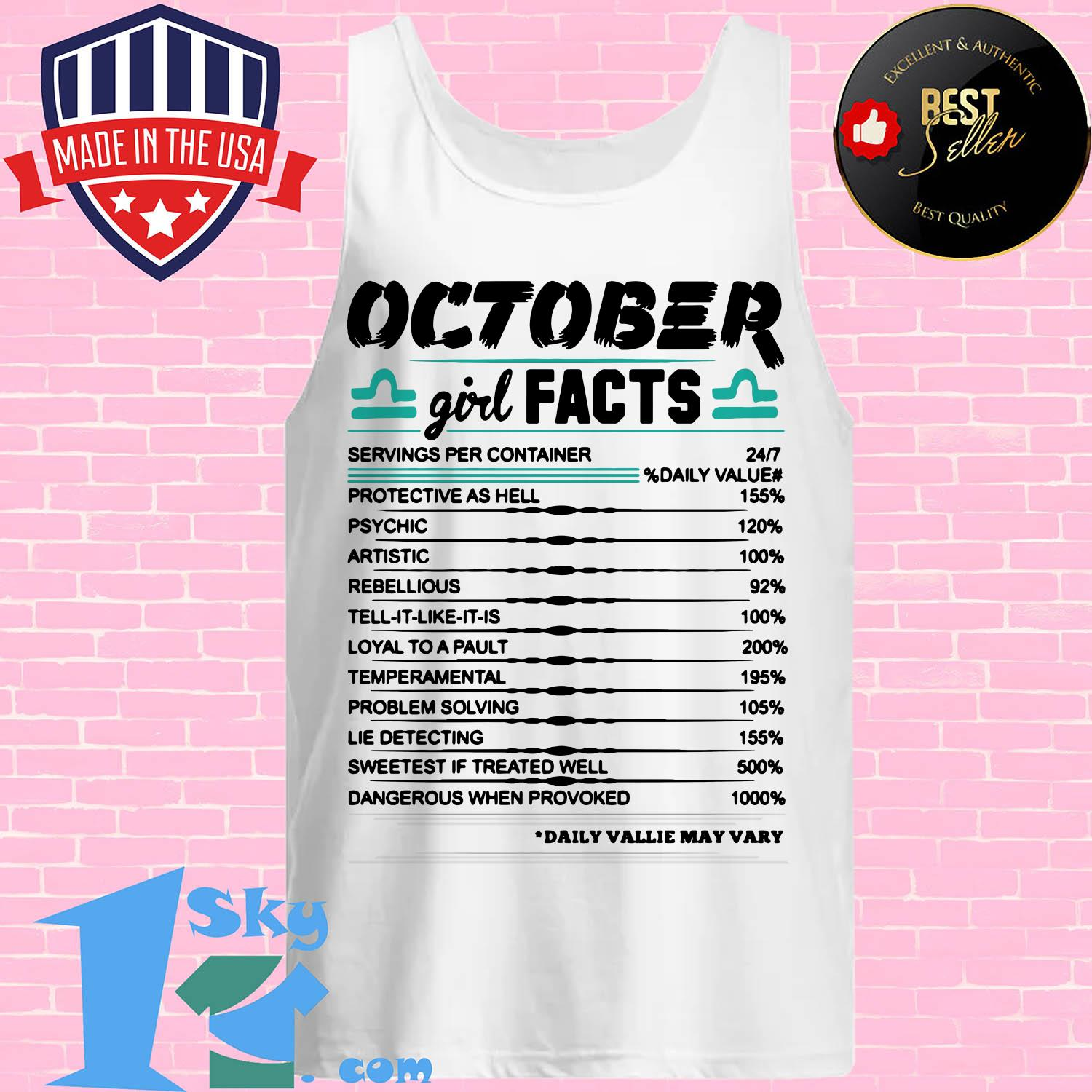 libra october girl facts serving per container protective as hell tank top - Libra October girl facts serving per container protective as hell shirt