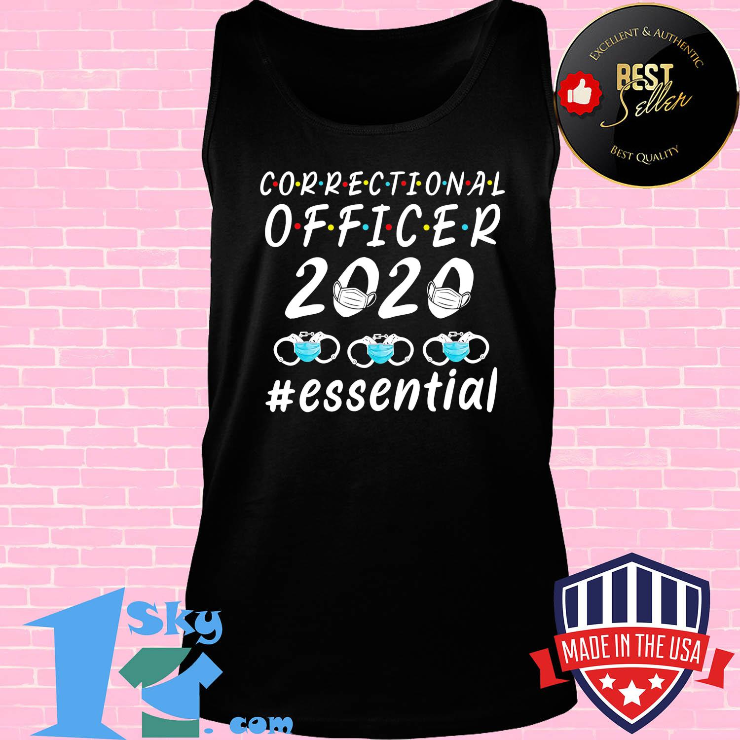 Correctional officer 2020 mask essential s Tack top