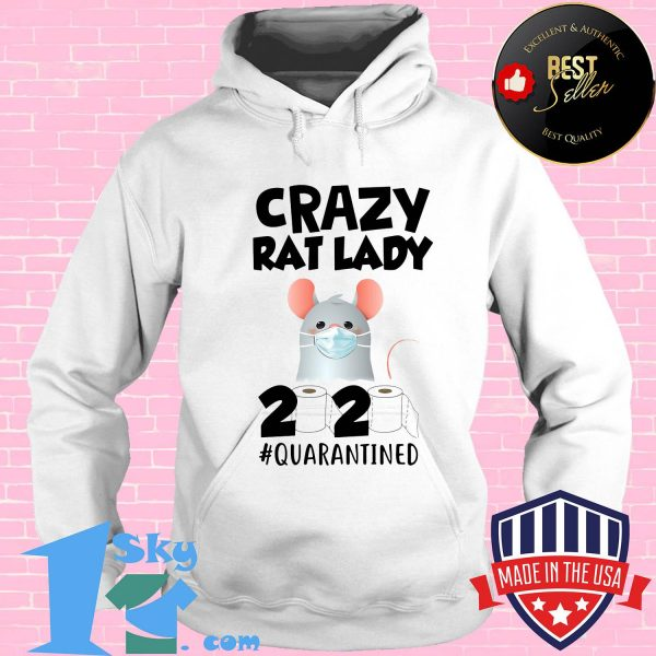 Crazy Rat lady 2020 isolated toilet paper mask shirt