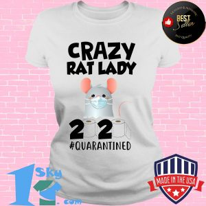 Crazy Rat lady 2020 isolated toilet paper mask s V-neck